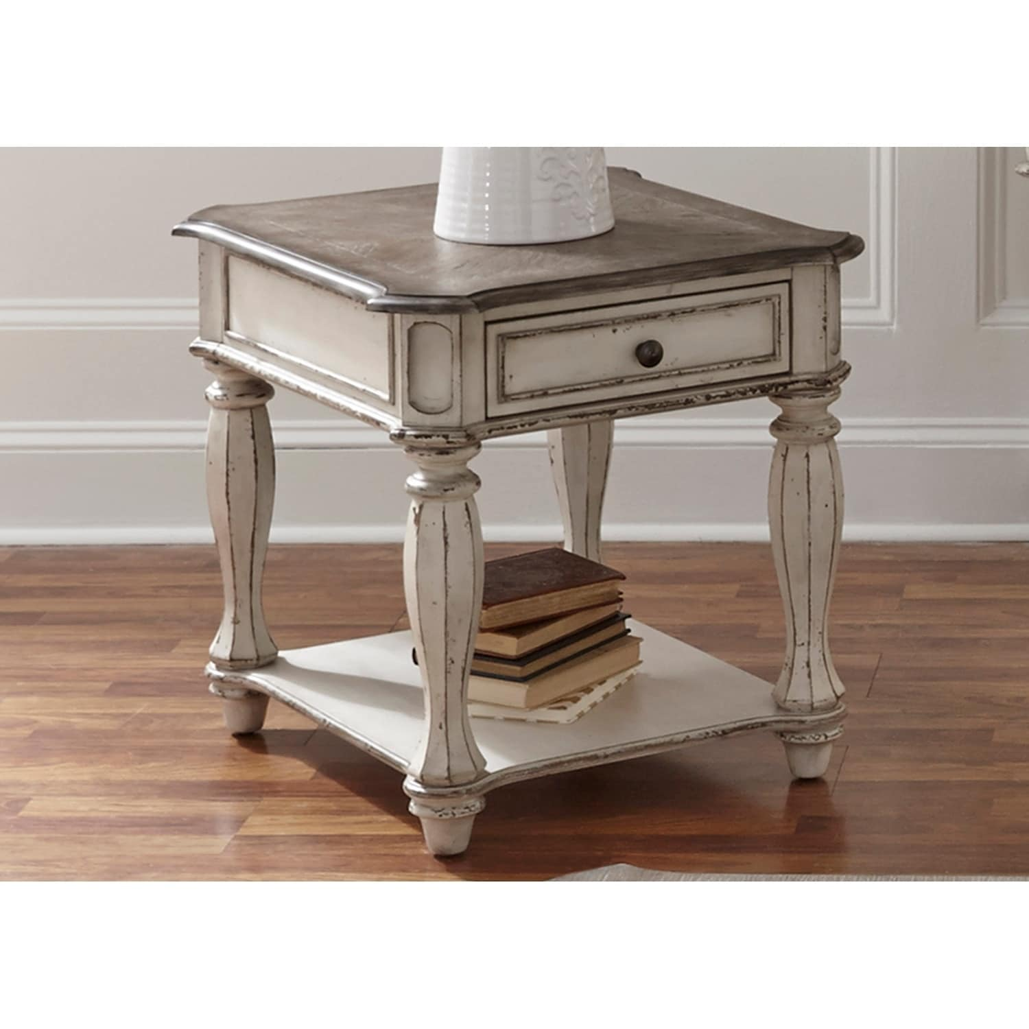 decor casual end table room composite ebony furniture pl lowes living white tables at shop home com accent coffee