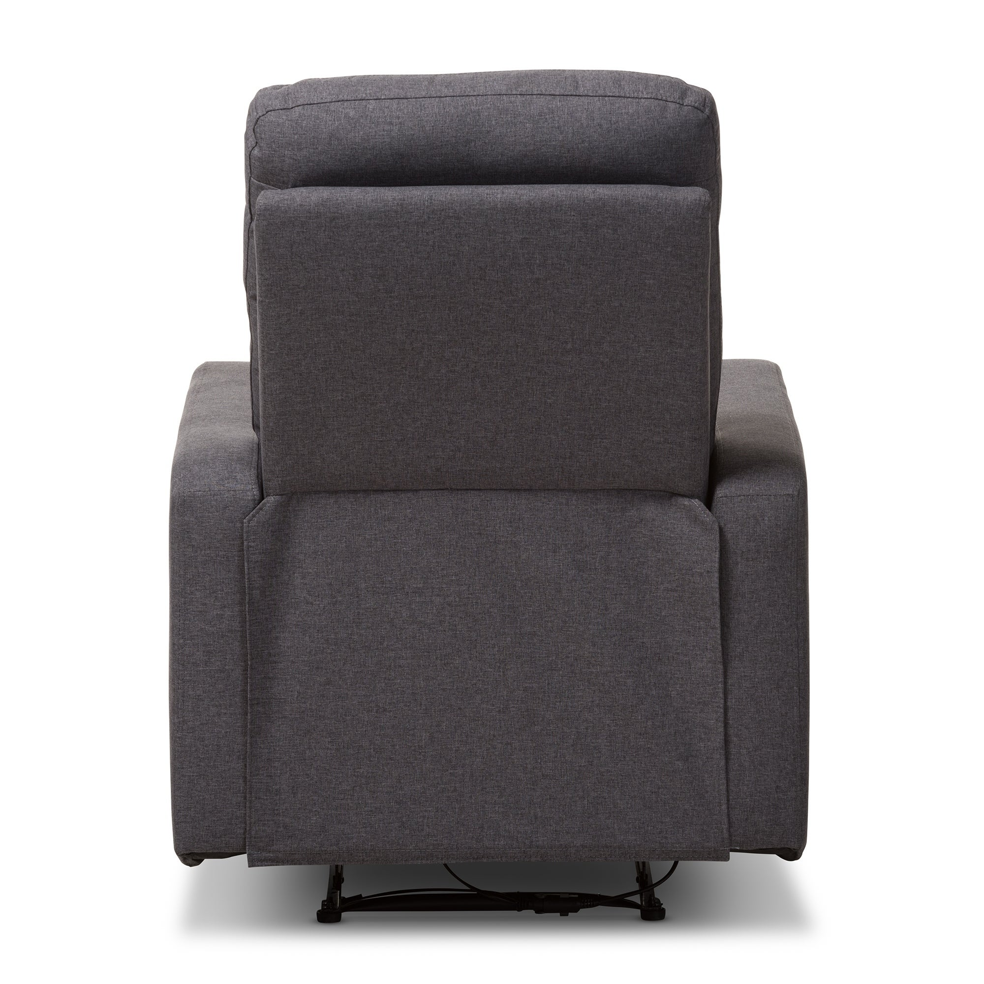 Contemporary Fabric Power Recliner Armchair By Baxton Studio   Free  Shipping Today   Overstock   23641413