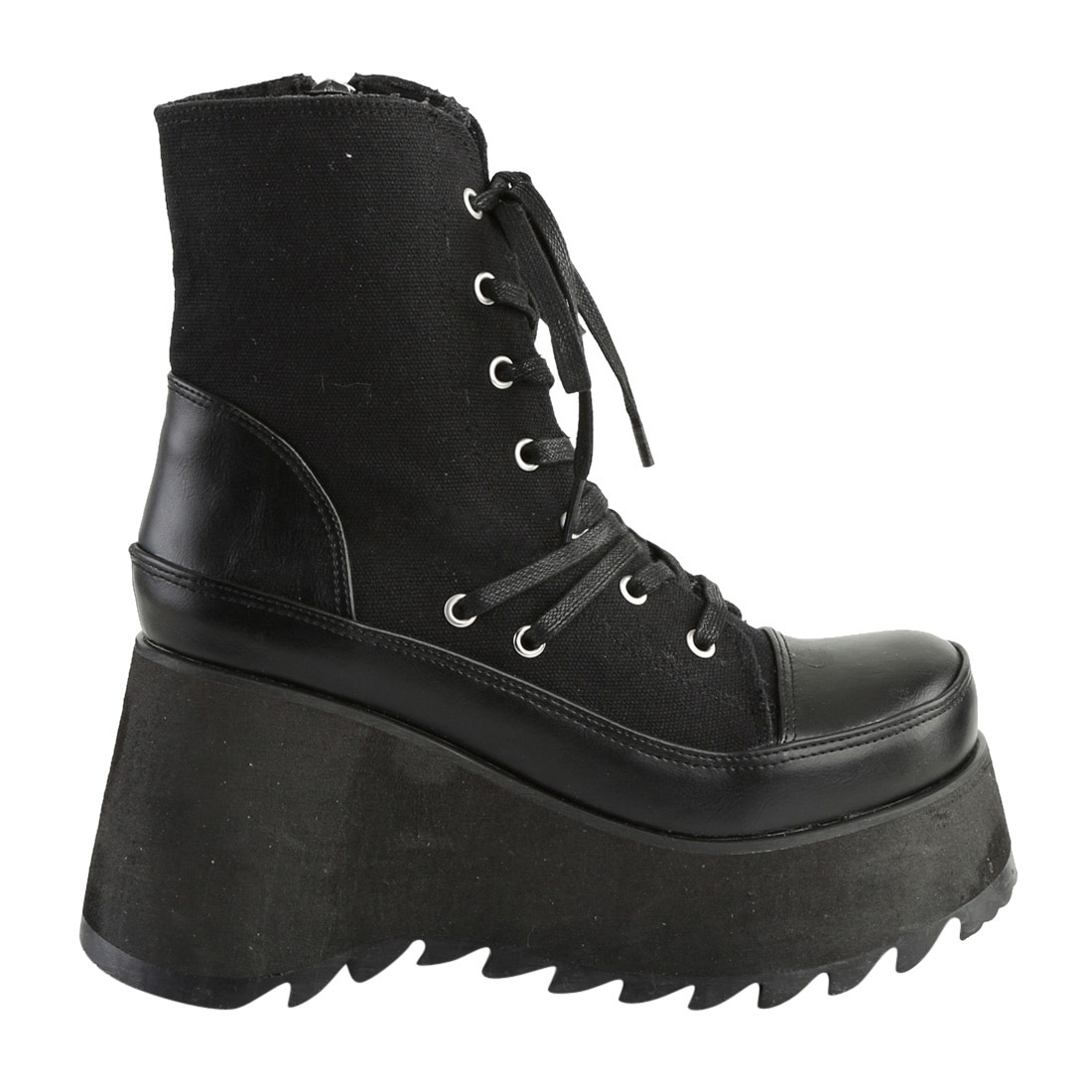 dd56f9e46d Shop Demonia SCENE-50 Women's Platform Lace-Up Side Zip Wedge Heel Ankle  High Boot - Free Shipping Today - Overstock - 17408046