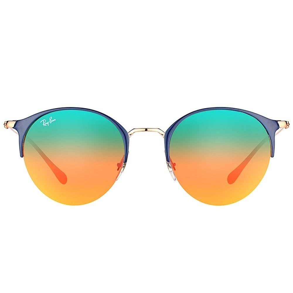 a5642f5839 Shop Ray-Ban Round RB 3578 9036A8 Unisex Blue Copper Frame Orange Gradient  Mirror Lens Sunglasses - Free Shipping Today - Overstock - 17410488