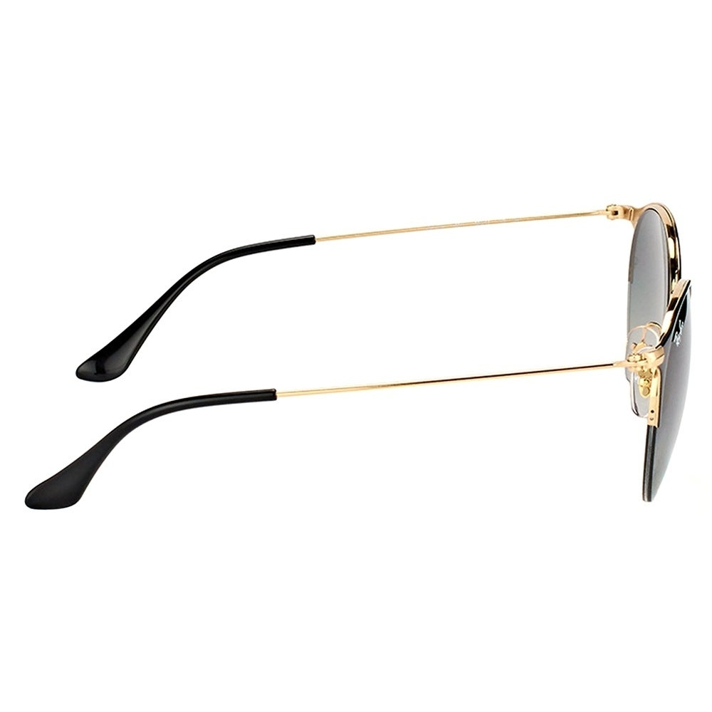 fc266ae5e4 Shop Ray-Ban Round RB 3578 187 11 Unisex Shiny Black Gold Frame Grey  Gradient Lens Sunglasses - Free Shipping Today - Overstock - 17410490