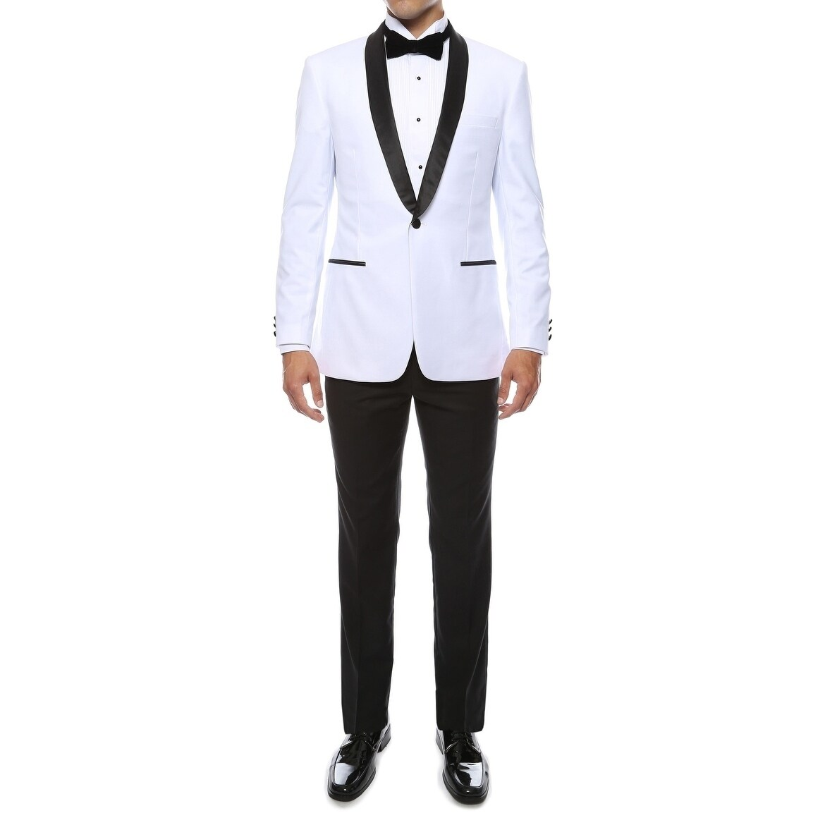 0f842cb787efa3 Shop Braveman Men's Slim Fit Shawl Lapel Runway Tuxedo - On Sale - Free  Shipping Today - Overstock - 17412353
