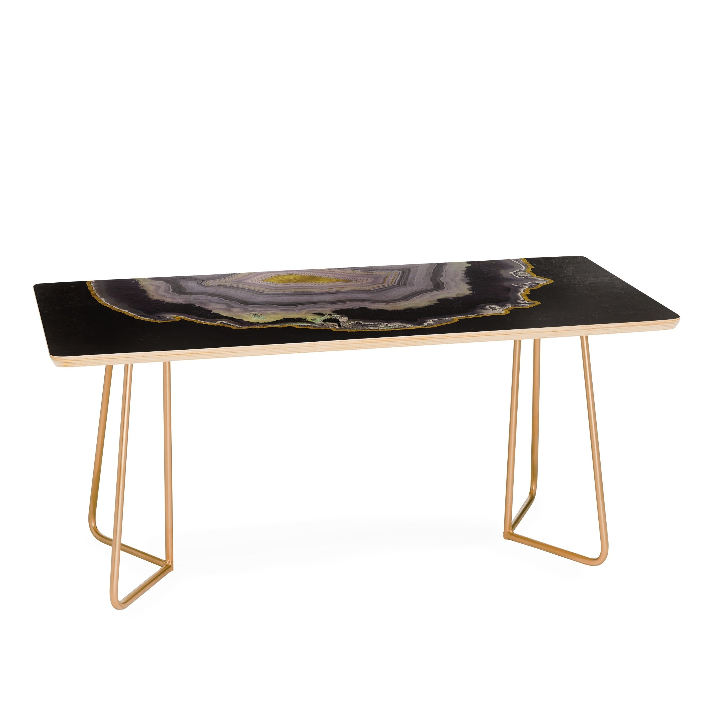 Delicieux Shop Emanuela Carratoni Black And Gold Agate Coffee Table   Free Shipping  Today   Overstock.com   17415101