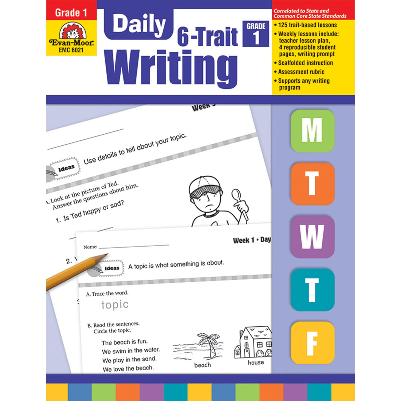 Daily 6-Trait Writing Book, Grade 1