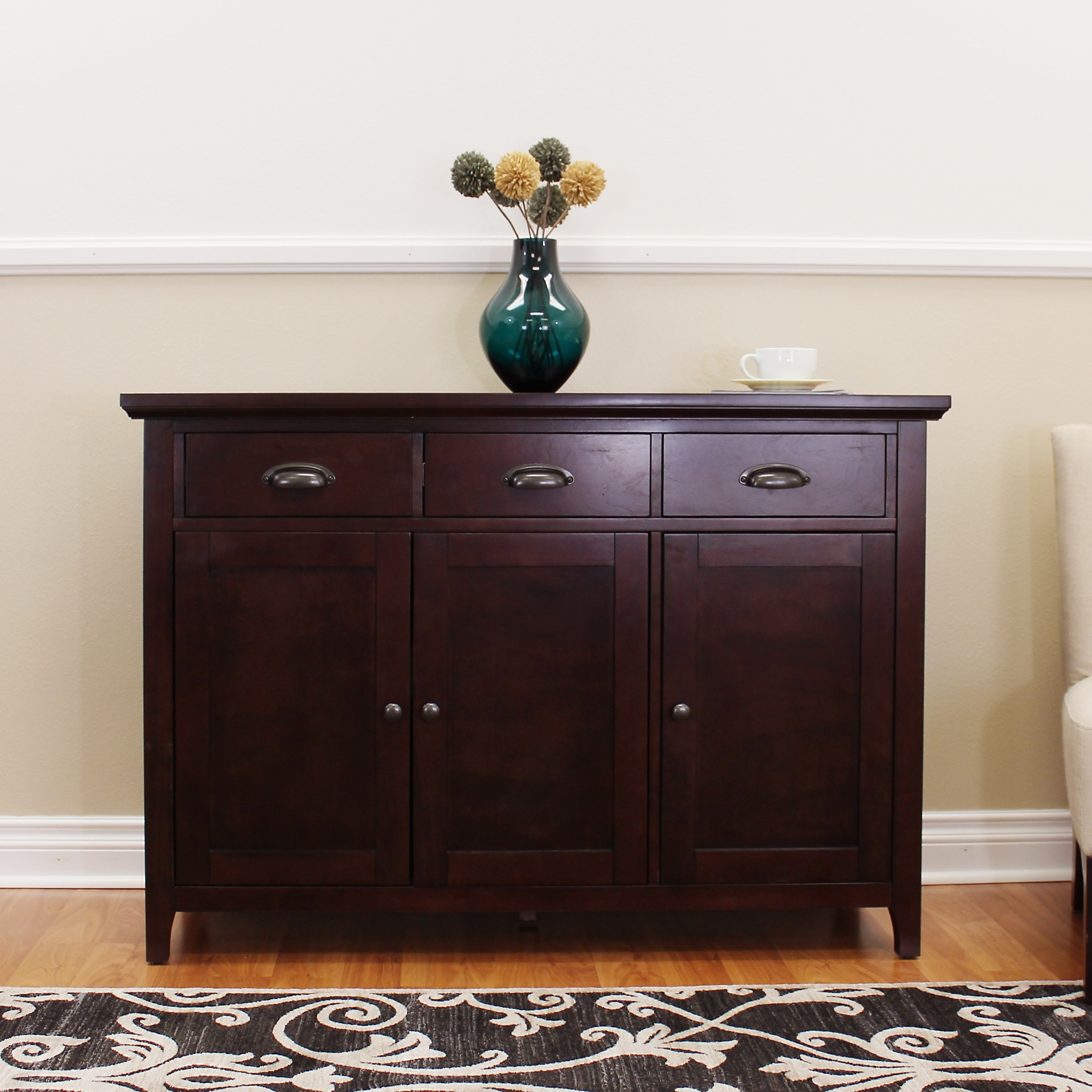 donnieann lindendale espresso inch sideboard  buffet table  freeshipping today  overstockcom  . donnieann lindendale espresso inch sideboard  buffet table