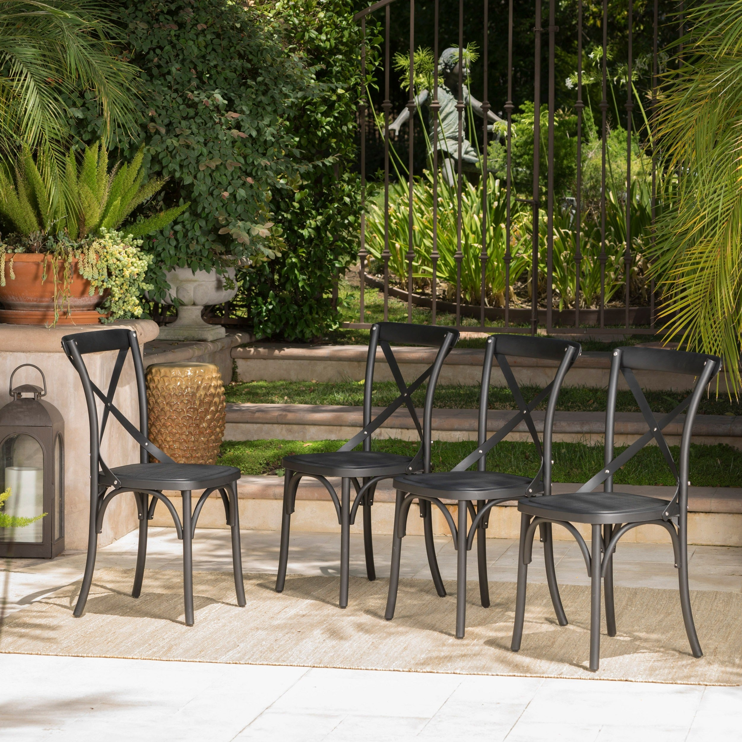shop danish outdoor farmhouse dining chair set of 4 by christopher rh overstock com danish design outdoor furniture danish outdoor furniture singapore