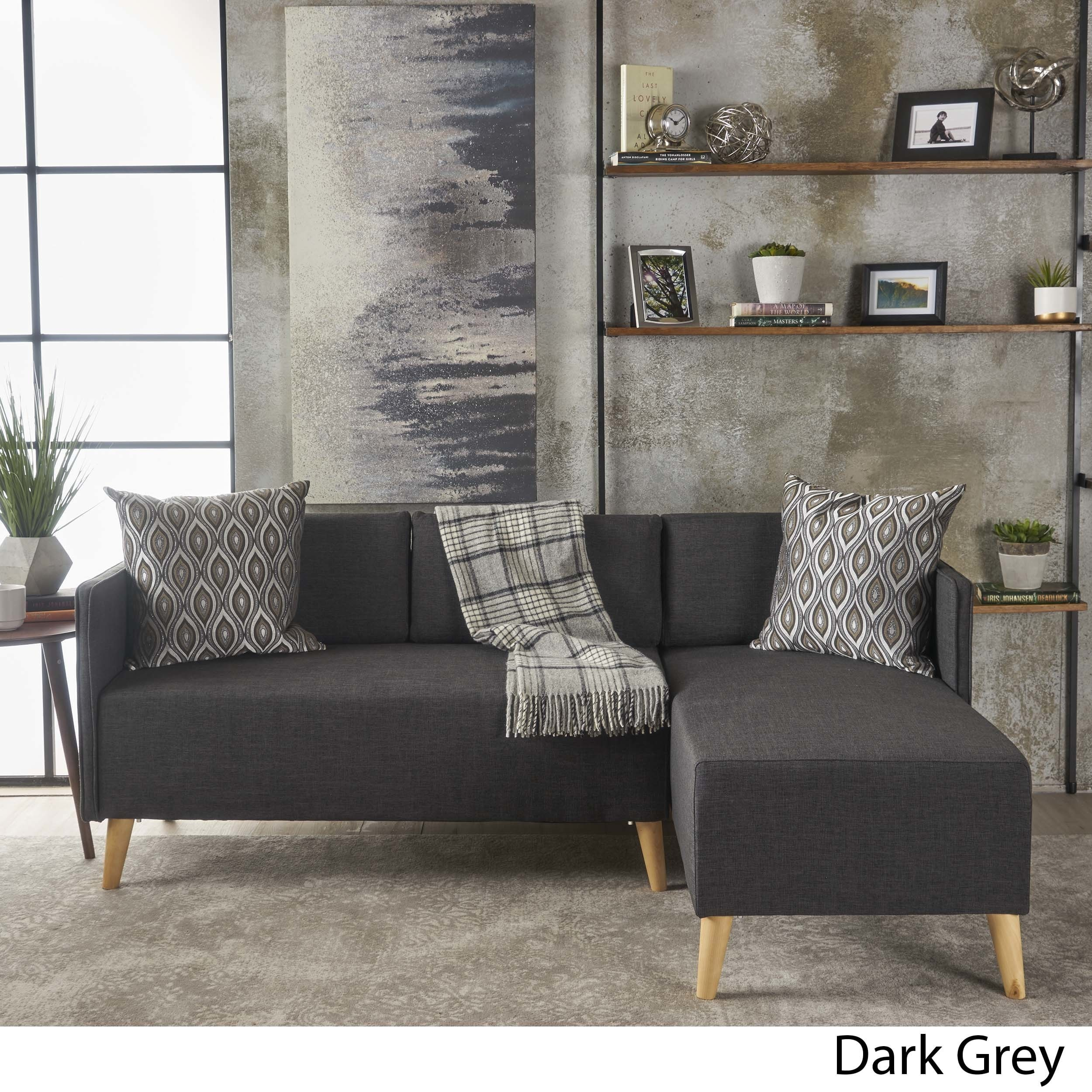 Shop augustus modern 2 piece chaise sectional sofa set by christopher knight home on sale free shipping today overstock com 17429780