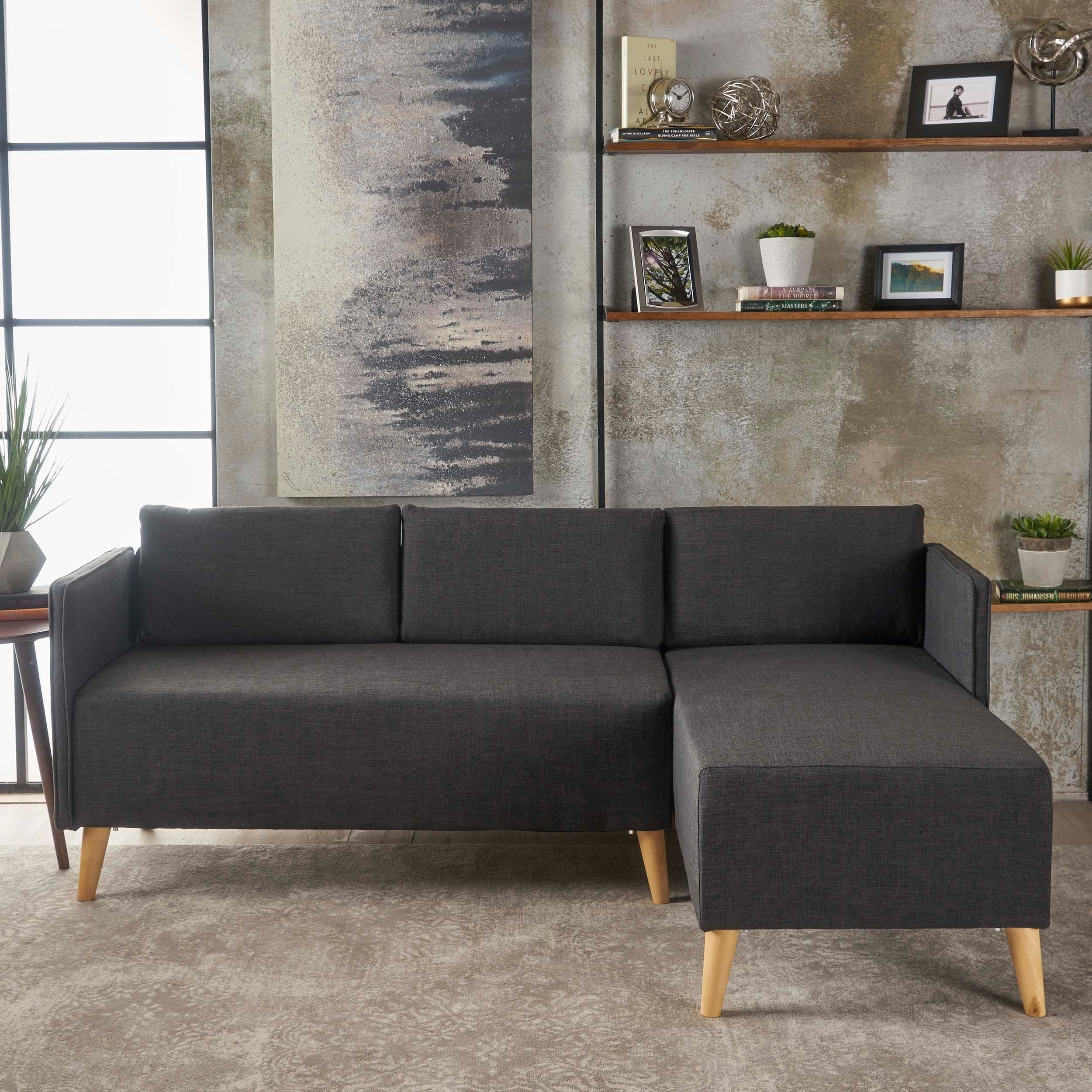 Shop Augustus Modern 2 Piece Chaise Sectional Sofa Set By
