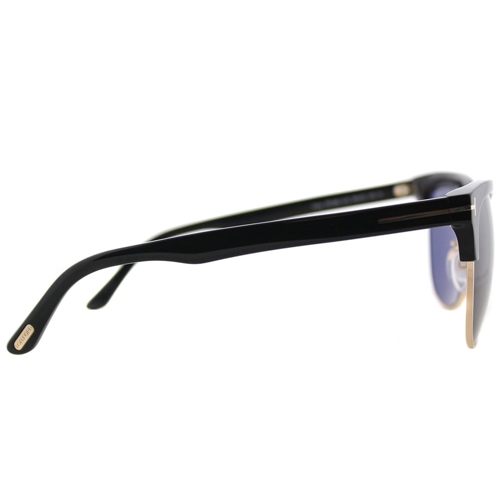 6d0bcf46201 Shop Tom Ford Square TF 368 01A Unisex Shiny Black Gold Frame Grey  Polarized Lens Sunglasses - Free Shipping Today - Overstock - 17431649