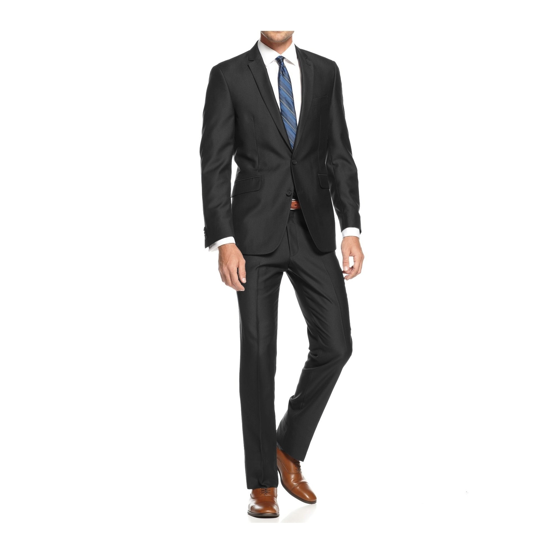 Braveman Men S Slim Fit 2 Piece Suit On Free Shipping Today 17432307