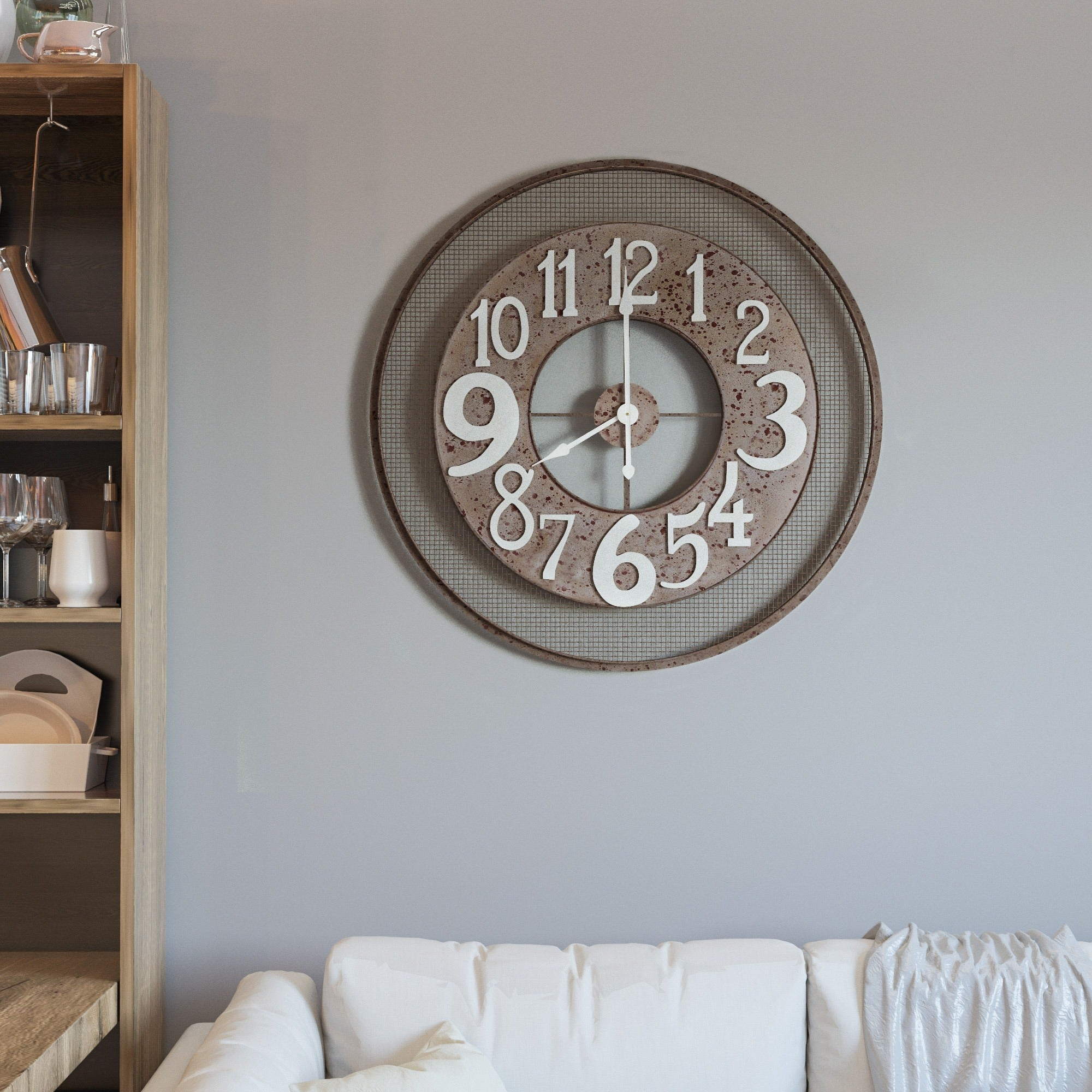 Shop Circular Wire Mesh Wall Clock Free Shipping Today Overstock