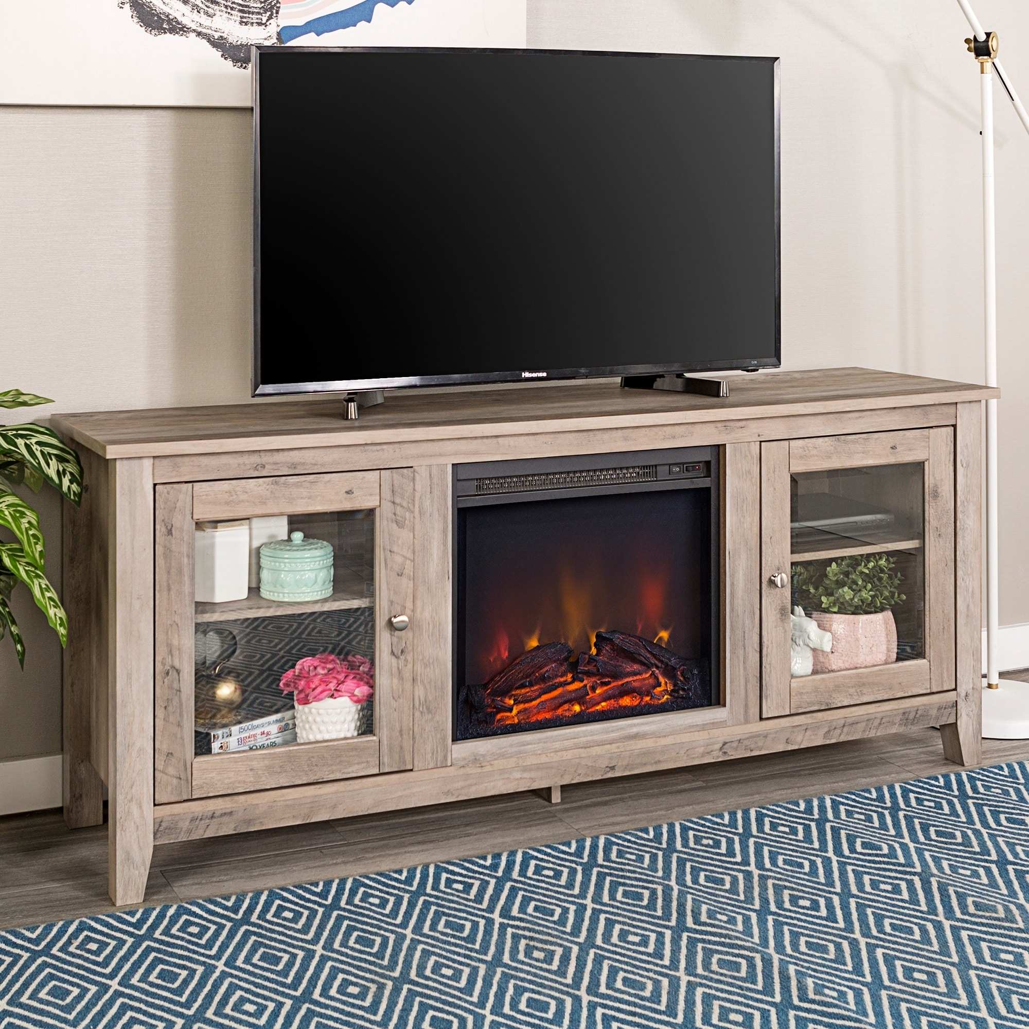 barston whalen walmart for multiple media up s to fireplaces com ip stands fireplace finishes with tv