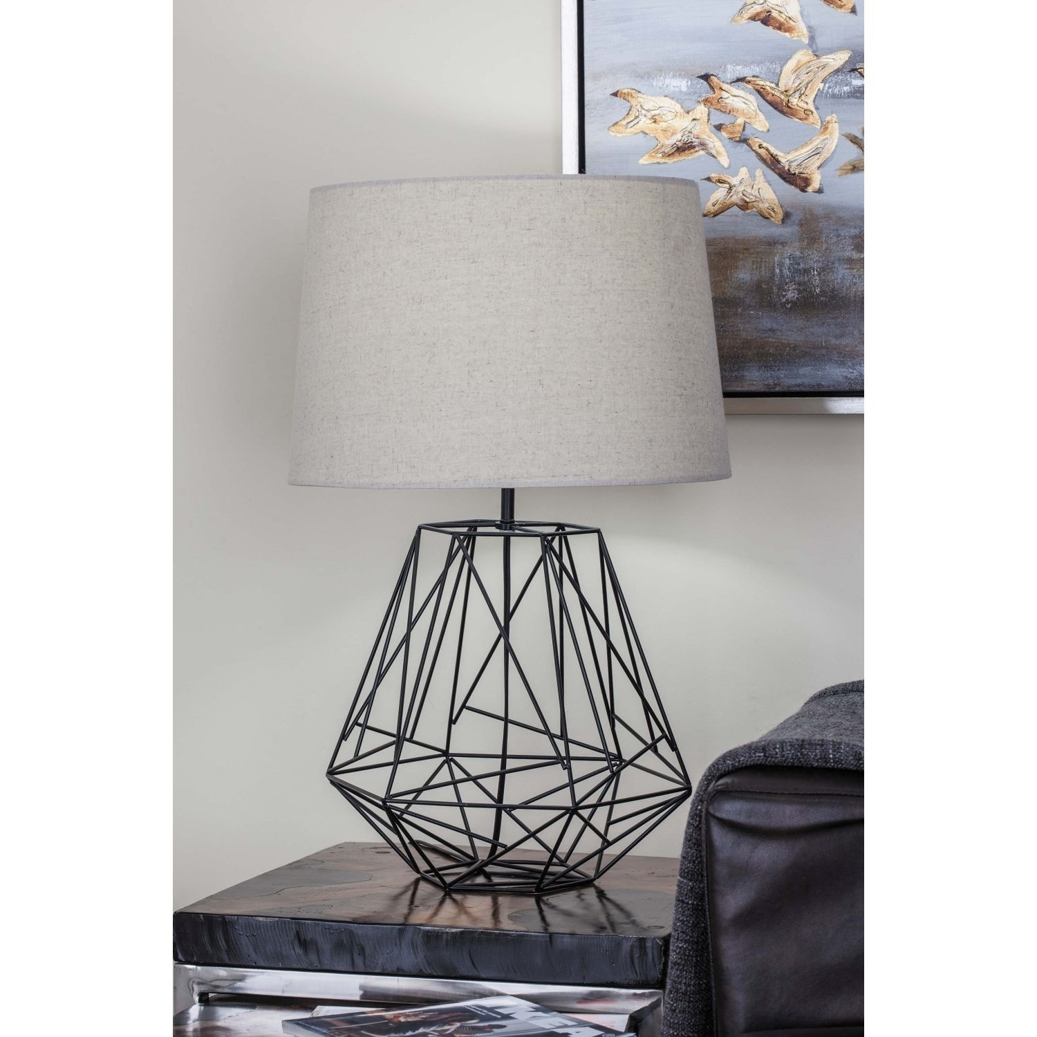 Shop Studio 350 Metal Black Wire Table Lamp 25 inches high - Free ...