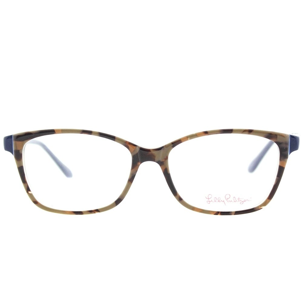 Lilly Pulitzer Rectangle Bohdie MO Womens Mocha Navy Frame ...