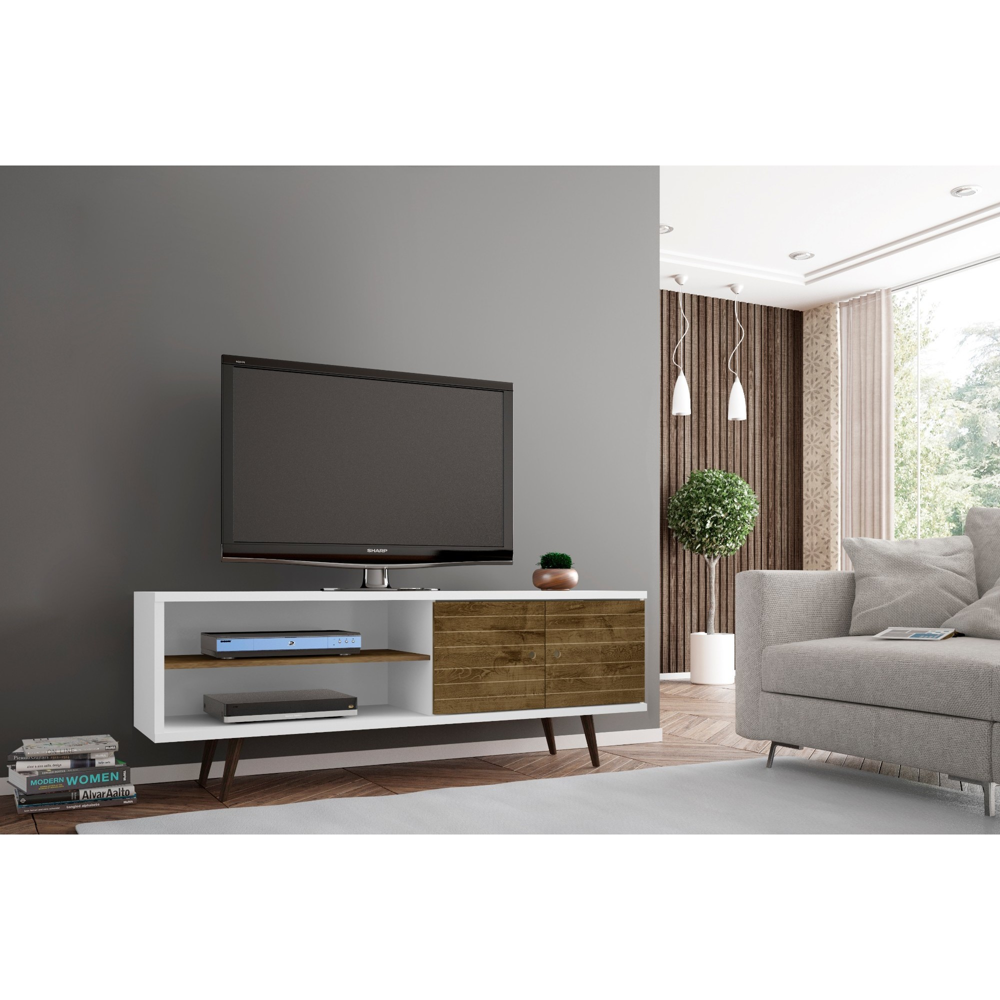 Shop carson carrington sortland wooden modern tv stand on sale free shipping today overstock com 22751405