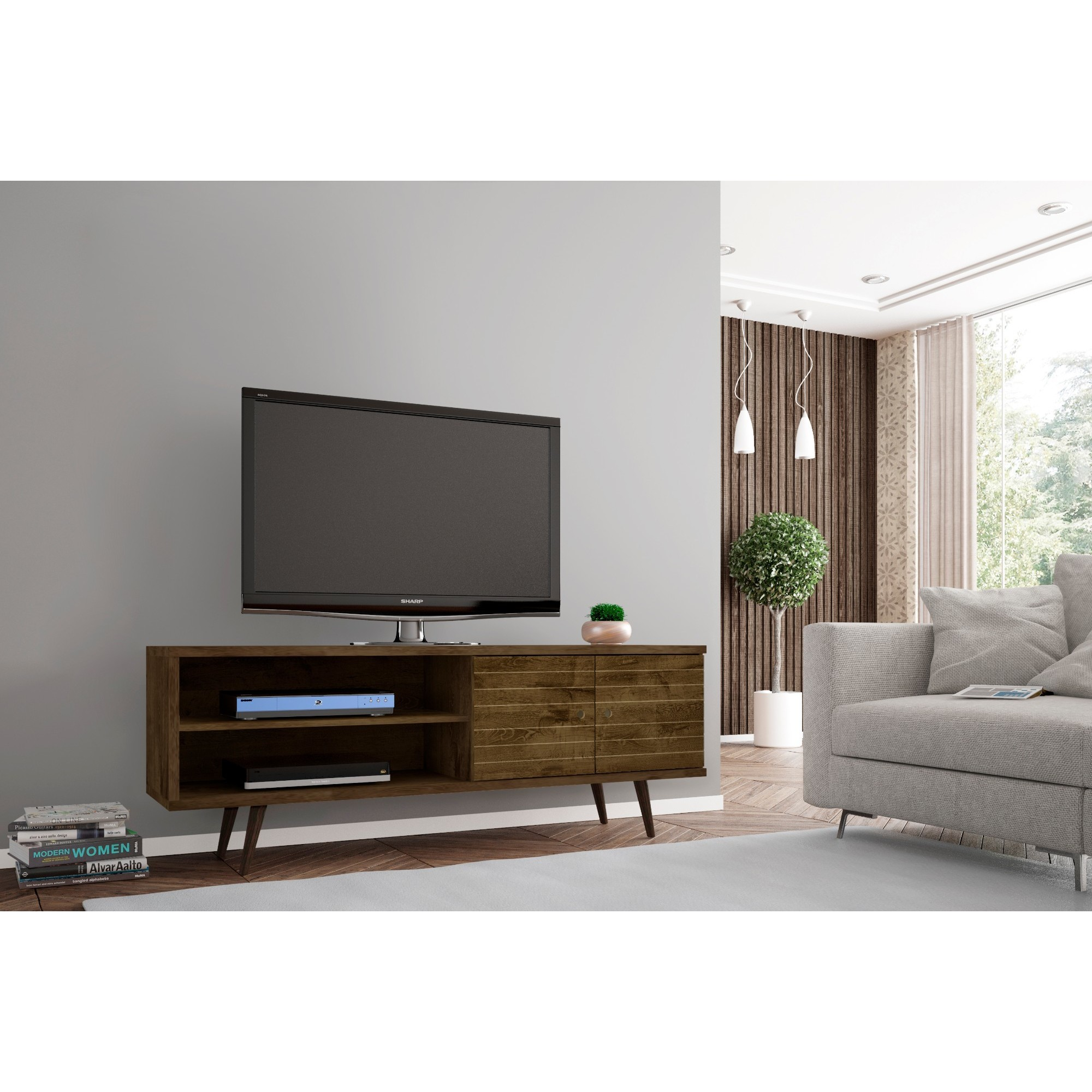 Merveilleux Shop Palm Canyon Bogert Wooden Modern TV Stand   On Sale   Free Shipping  Today   Overstock.com   22751405