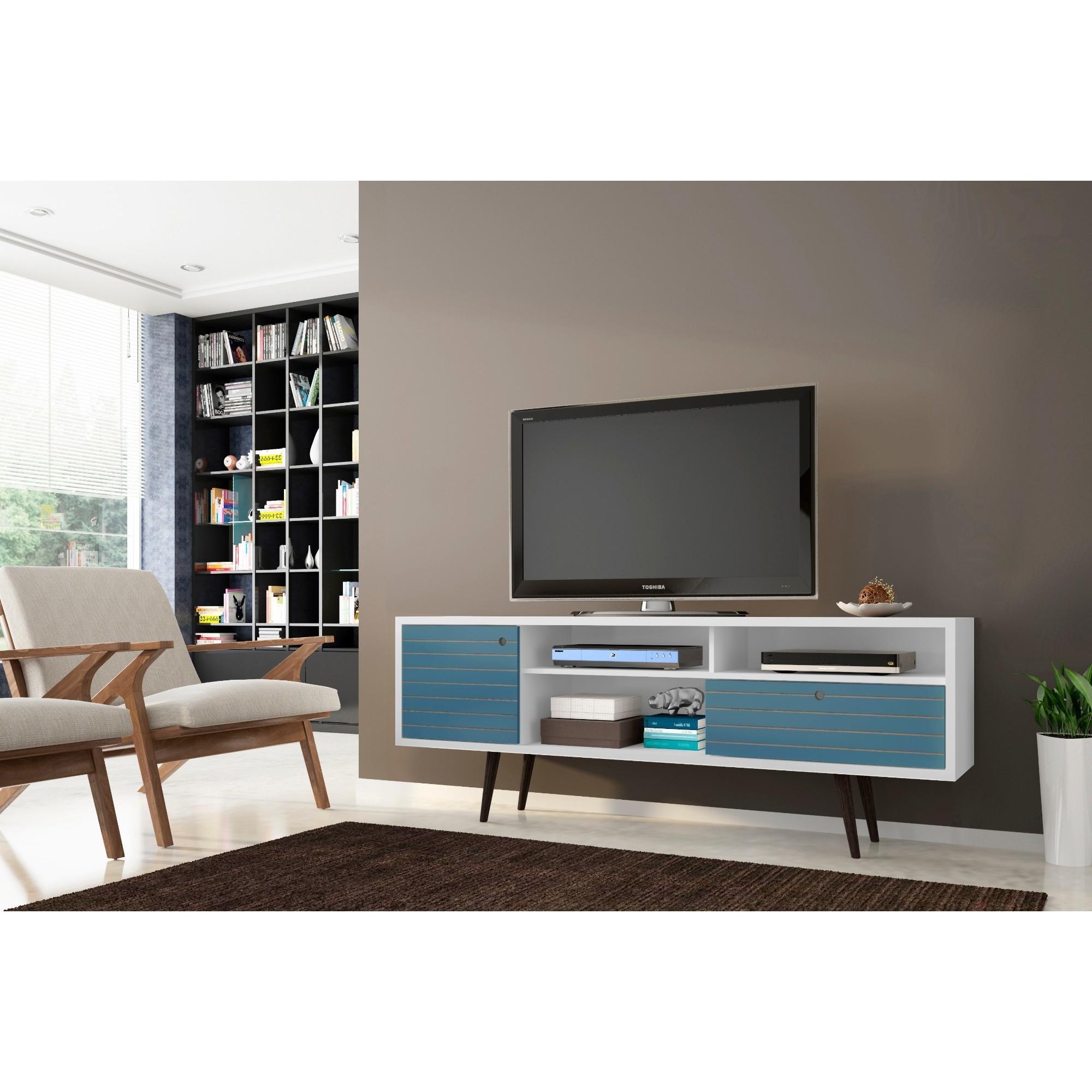 Shop Manhattan Comfort Liberty 70 86 Mid Century Modern Tv Stand