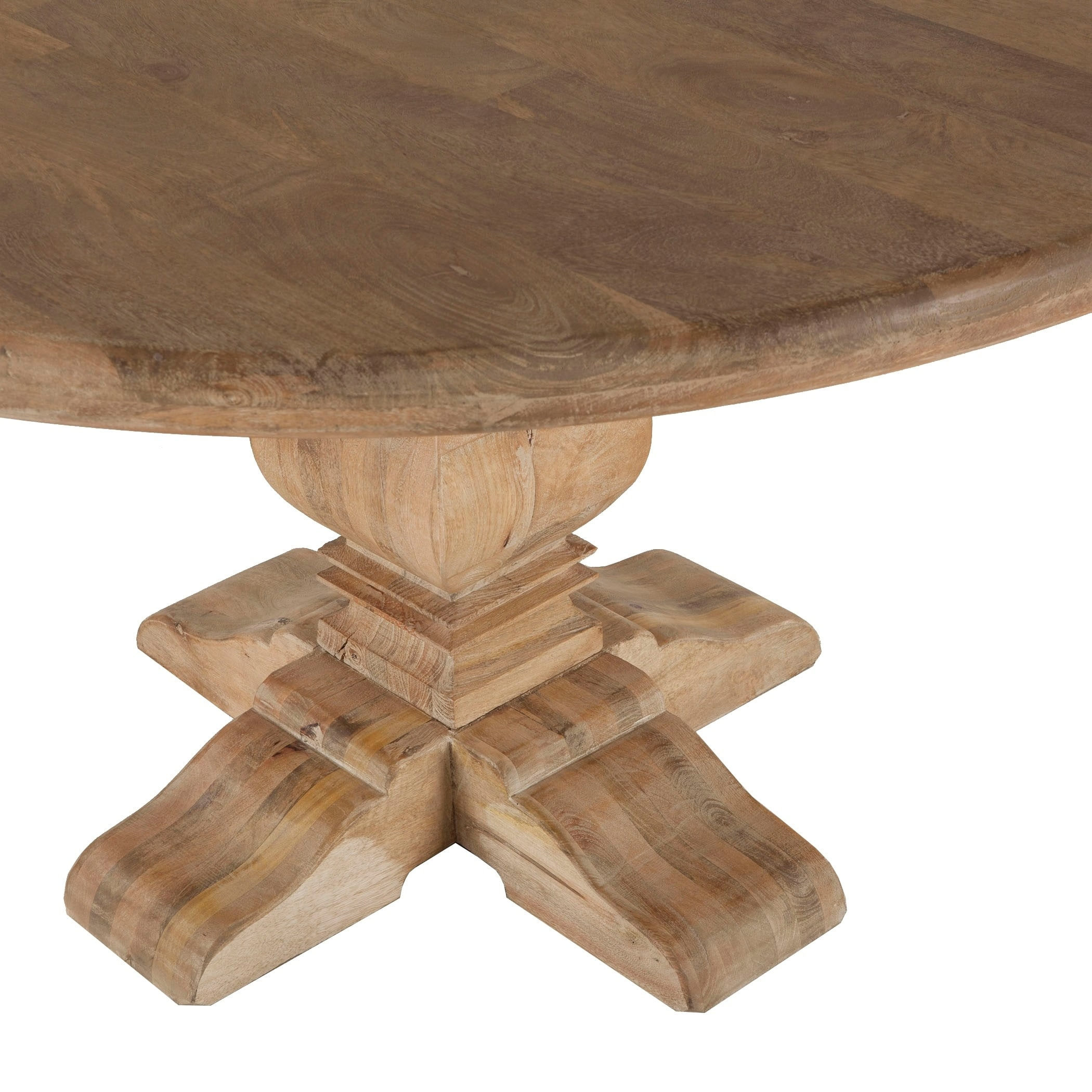 Mango Wood 54 Round Dining Table In Antique Oak By World Interiors On Free Shipping Today 17478033