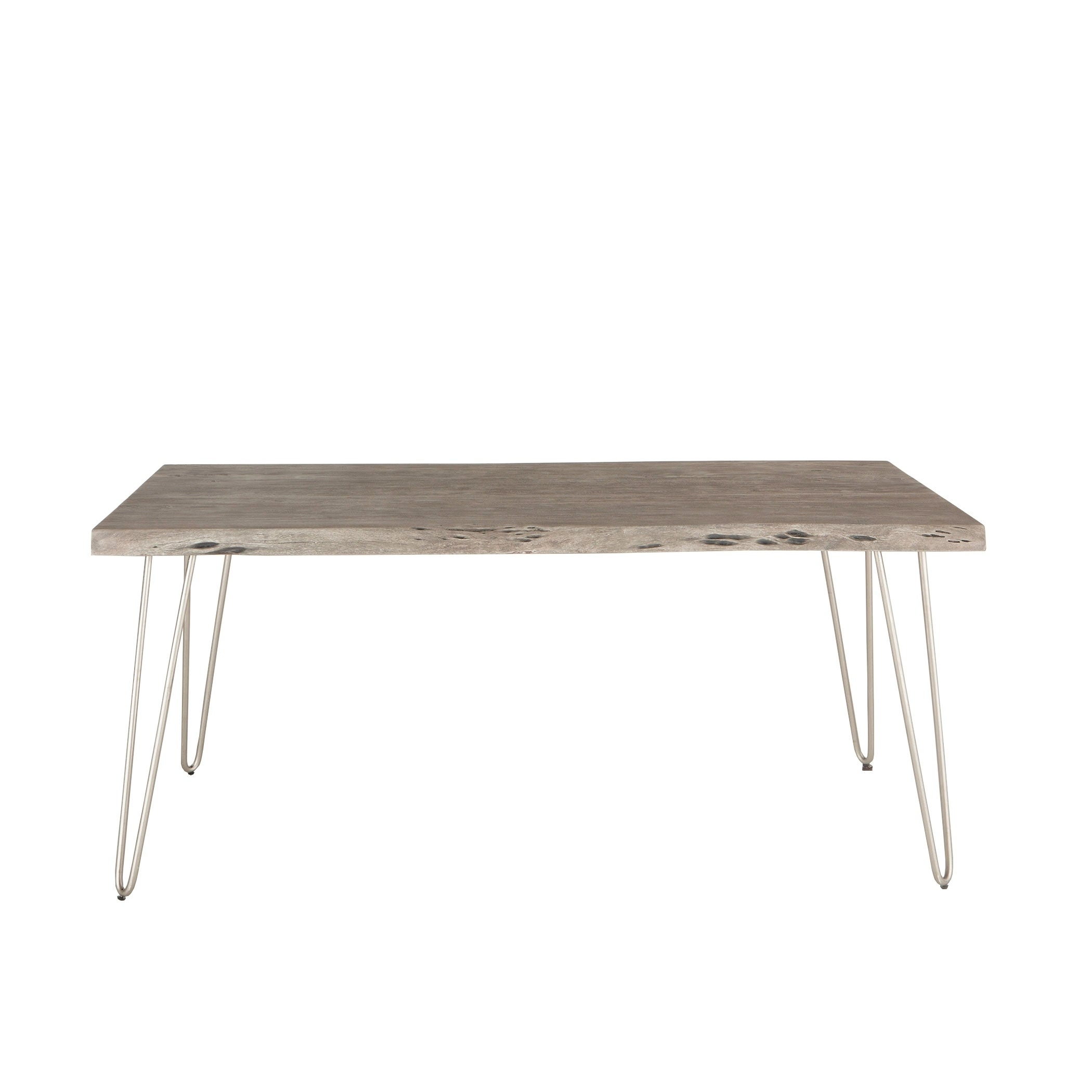 Shop weathered grey acacia wood dining table by world interiors on sale ships to canada overstock ca 17478371