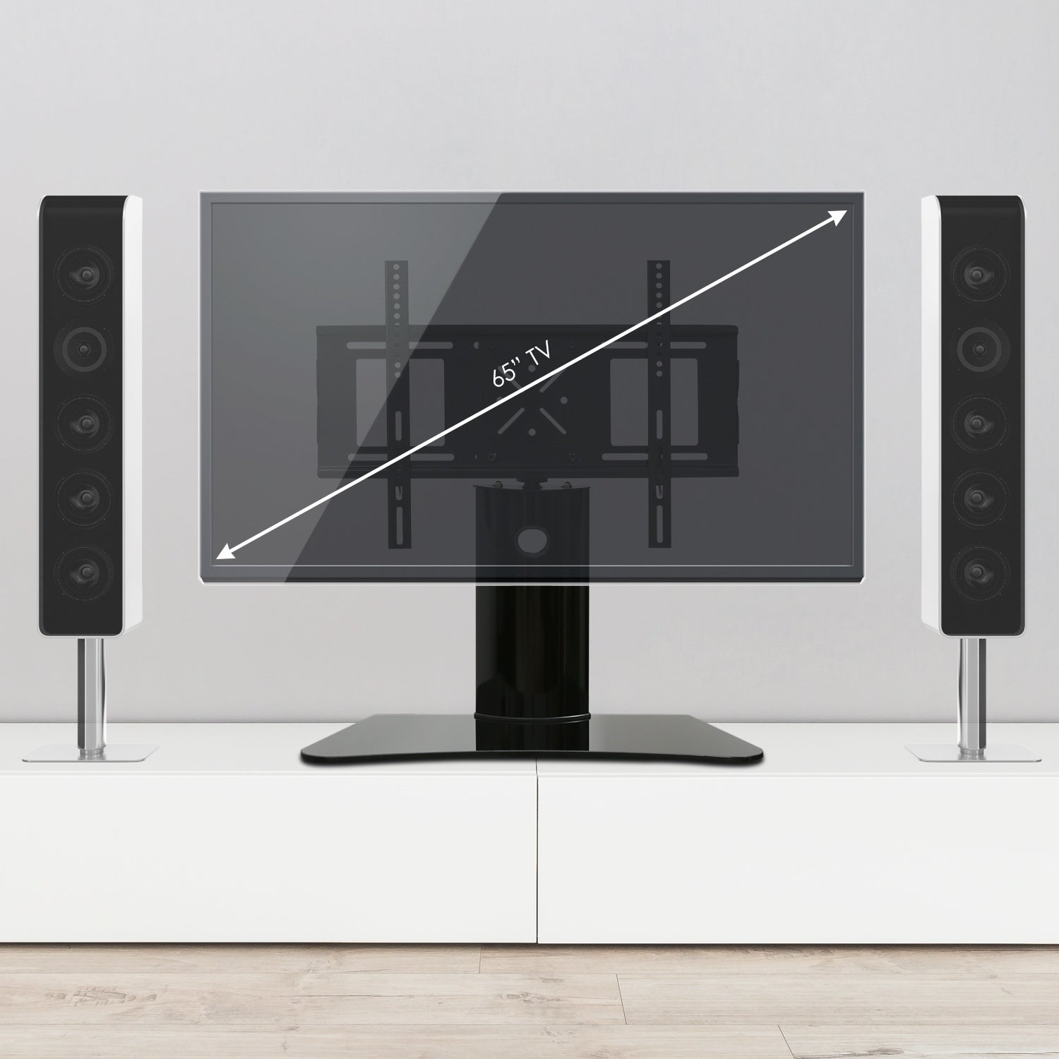 Shop Furinno Modern Tv Stand With Wall Mount Bracket For Tv Up To 65