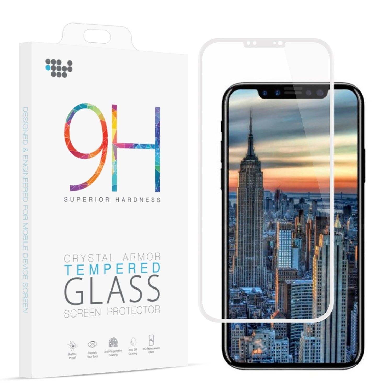Shop Iphone 8 3d Full Coverage Tempered Glass Screen Protector Plus Clear Cover Premium Pro Arcing Free Shipping On Orders Over 45 17487167