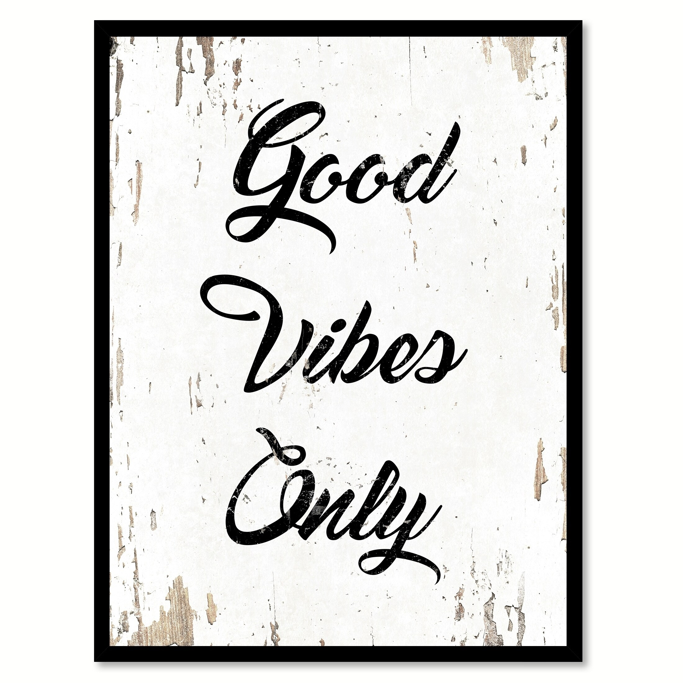 68552b0365 Shop Good Vibes Only Saying Canvas Print Picture Frame Home Decor Wall Art  - Free Shipping On Orders Over  45 - Overstock - 17488343