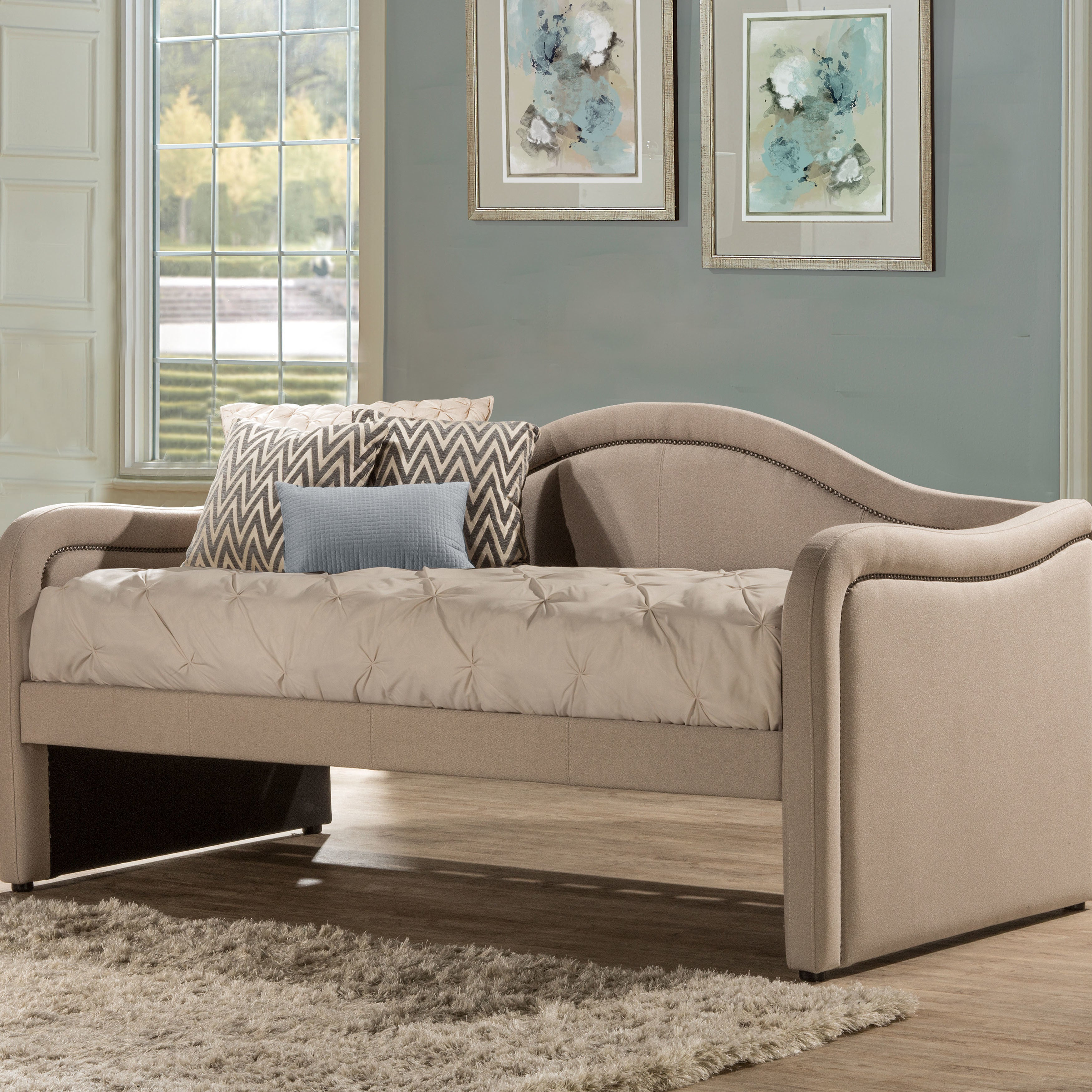 Shop hillsdale furniture melbourne daybed in linen oyster free shipping today overstock 17490250