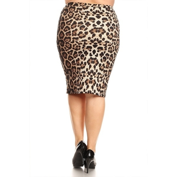 1e16c6989 Shop Women's Plus Size Leopard Print Pencil Skirt - On Sale - Ships To  Canada - Overstock - 17491905