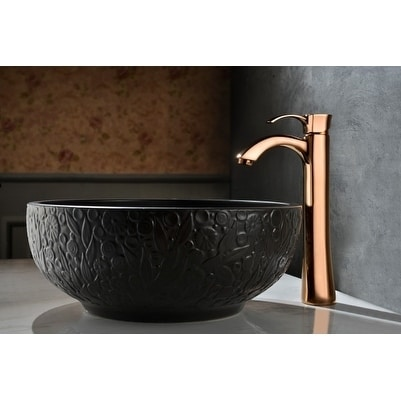 Shop ANZZI Harmony Single Handle Vessel Sink Faucet In Rose Gold   Pink    Free Shipping Today   Overstock.com   17492729