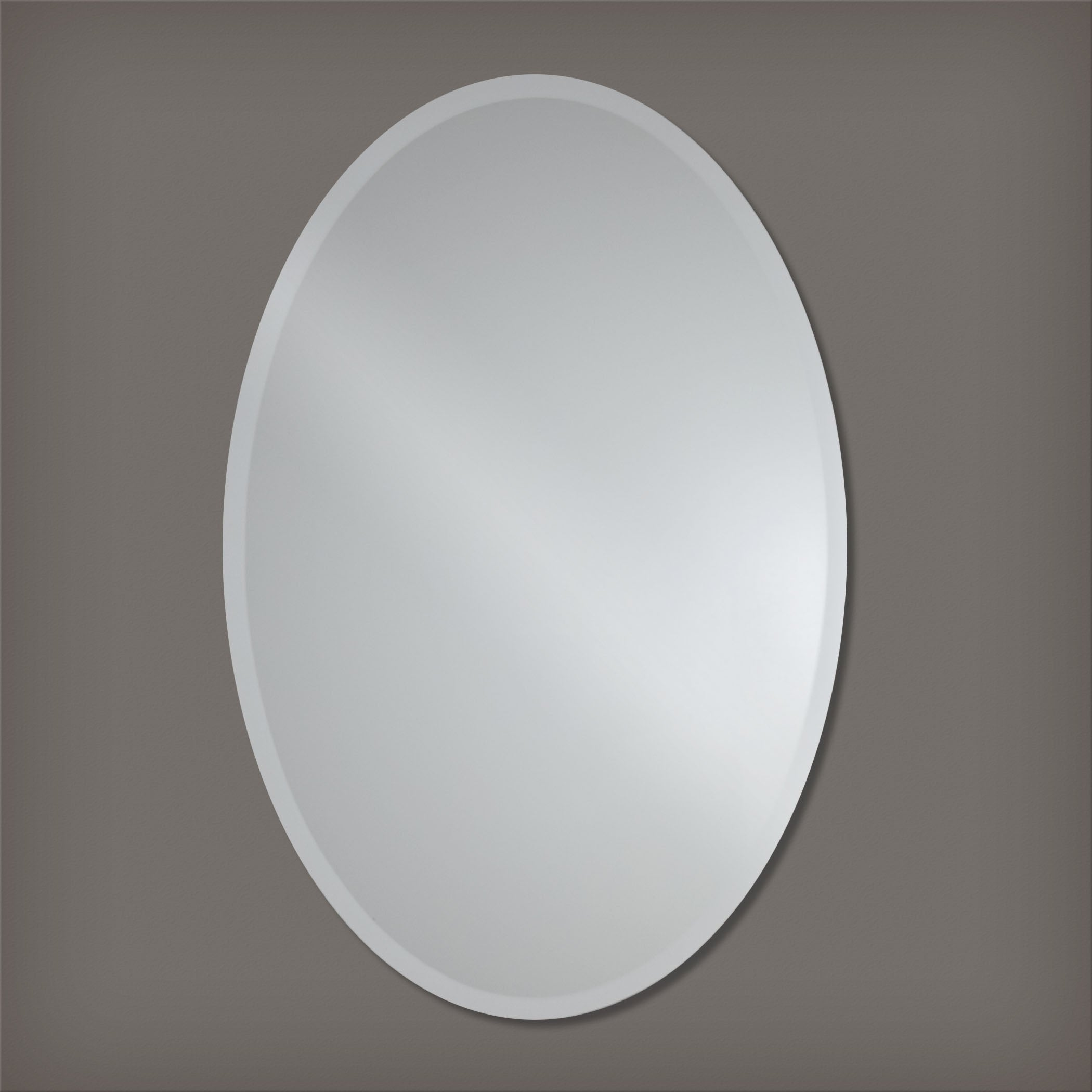 Frameless Beveled Oval Wall Mirror By The Better Bevel Free Shipping Today 17520470