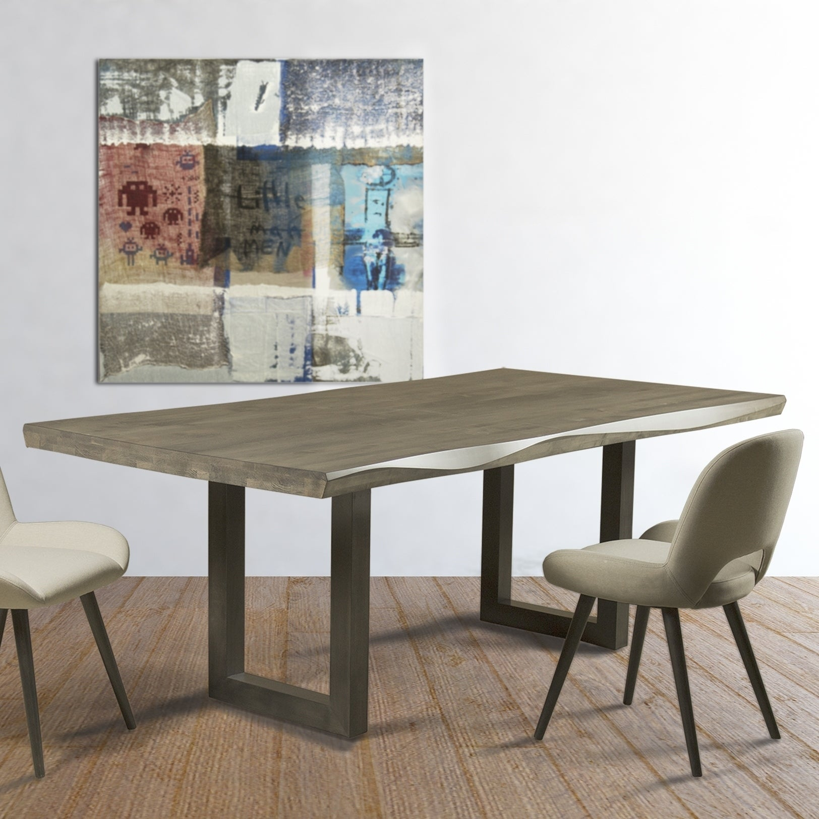 Shop saloom emerson nantucket maple 42x80 inch rectangular sculpted edge dining table nantucket base free shipping today overstock com 17520650