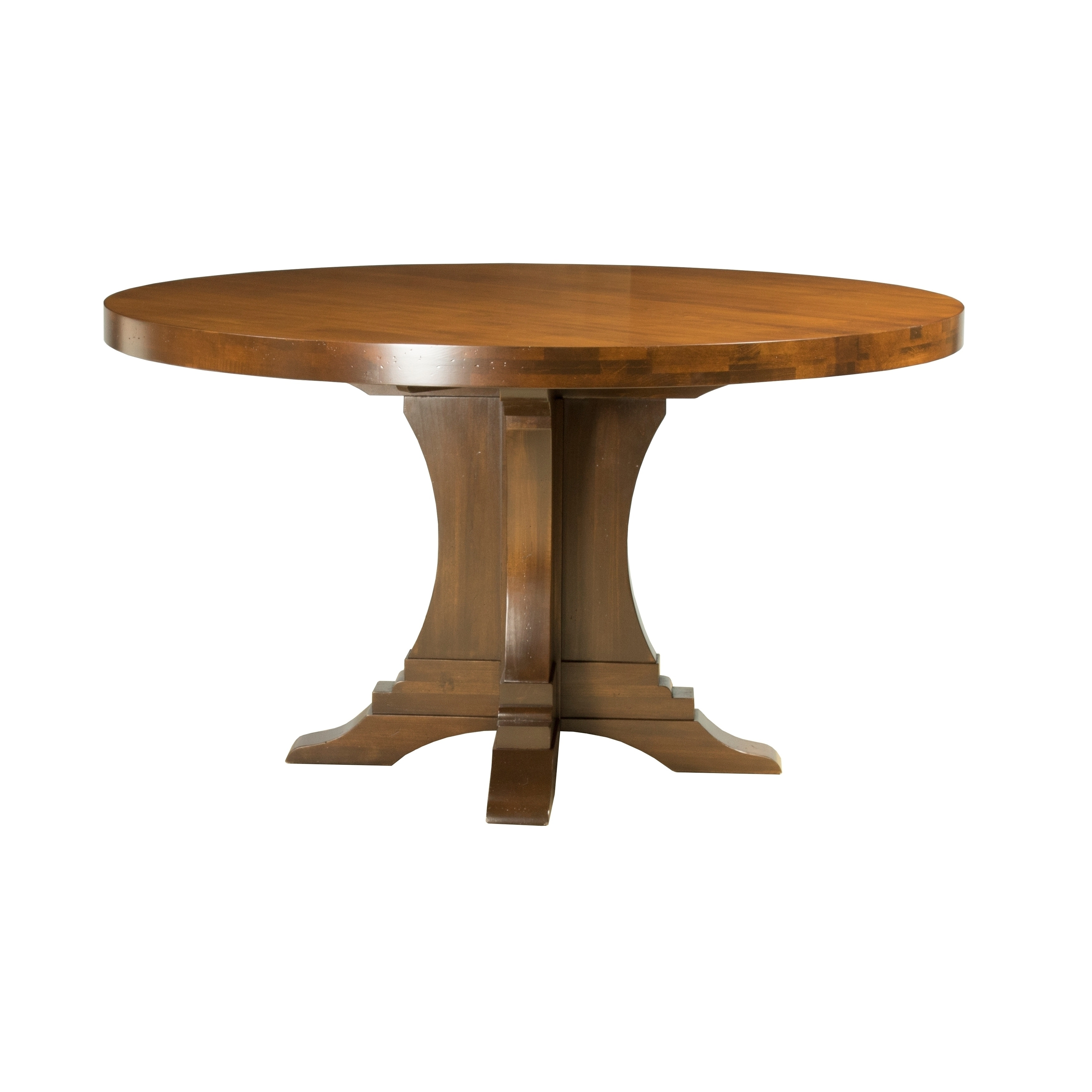 Saloom Bristol Distressed Walnut Maple 54-inch Round Dining Table ...