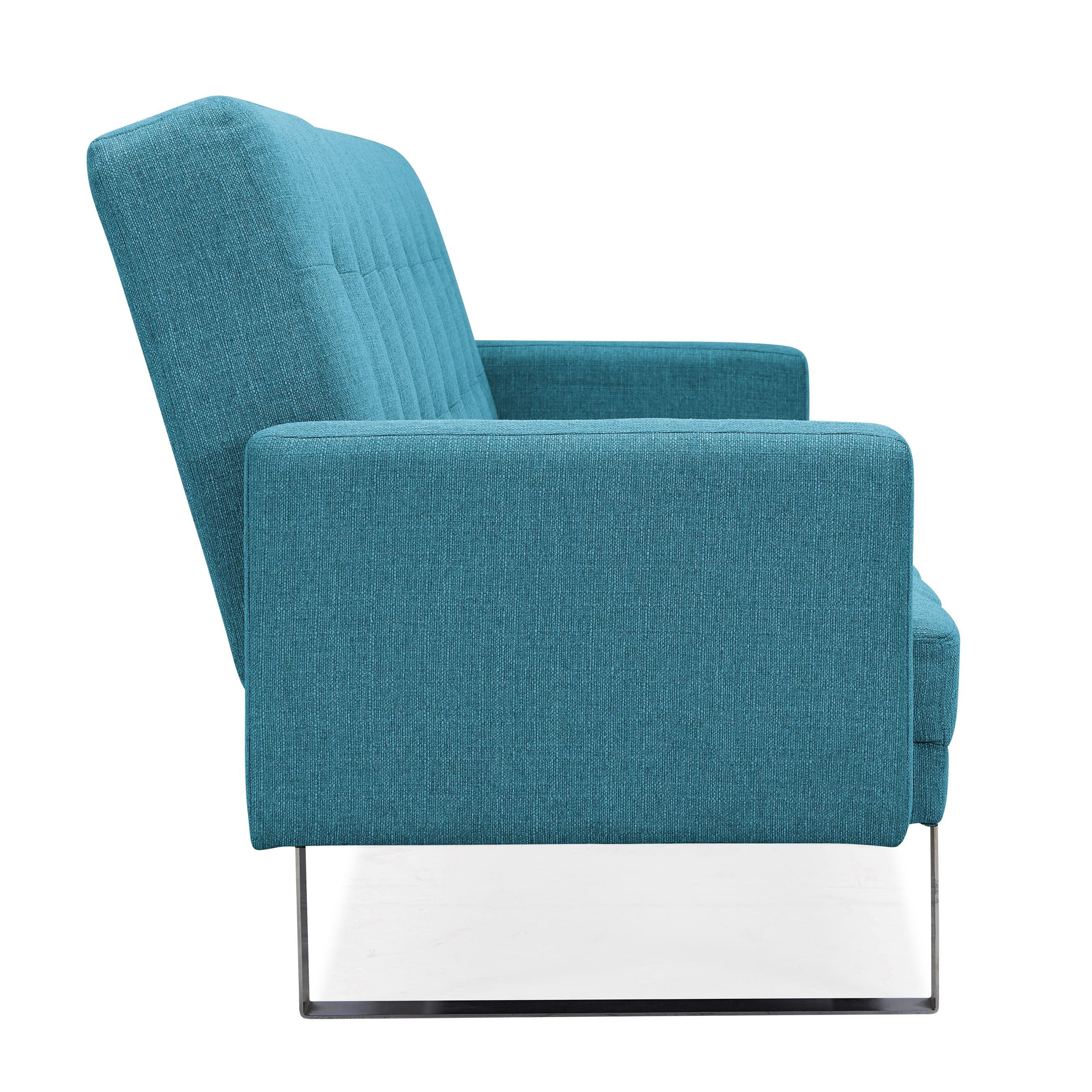 Handy Living Springfield Turquoise Blue Linen Clack Futon