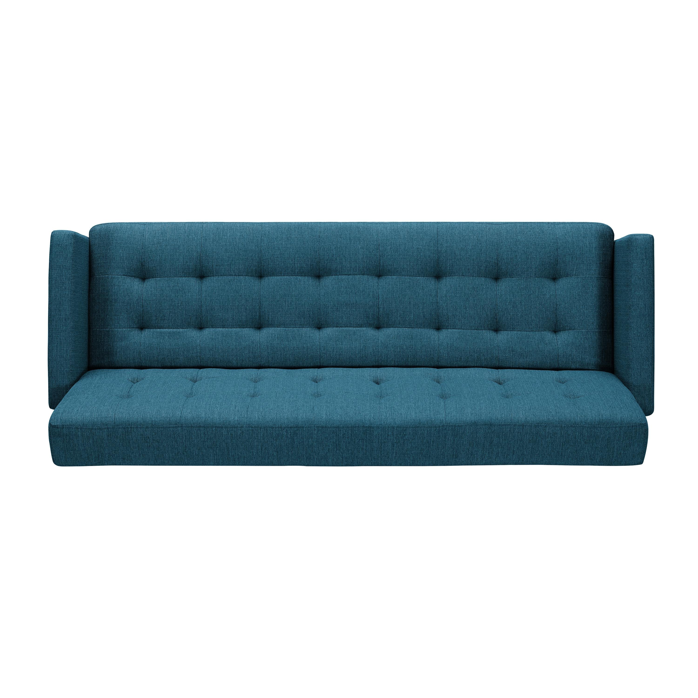 Shop Handy Living Springfield Caribbean Blue Linen Click Clack Futon ...