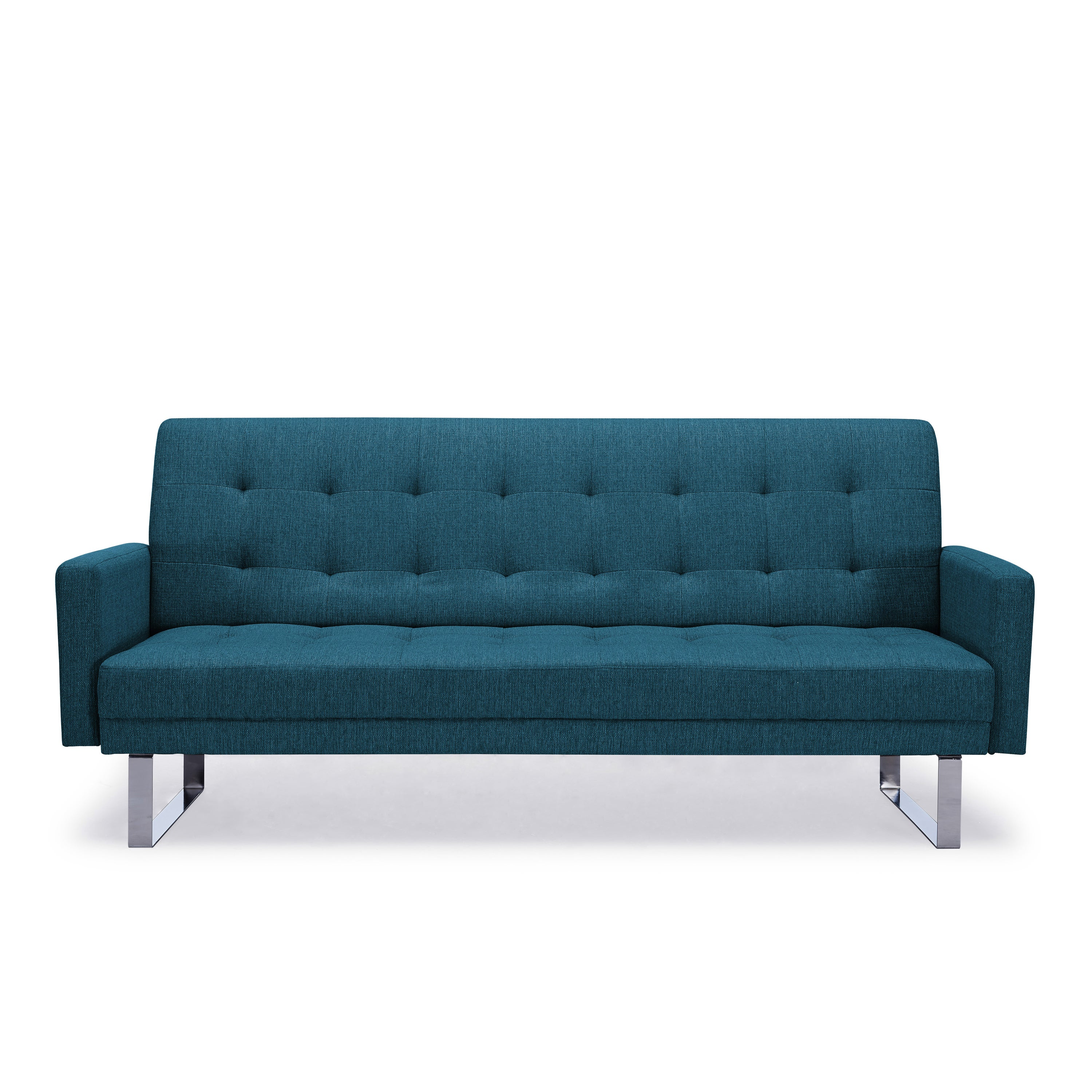 Handy Living Springfield Caribbean Blue Linen Click Clack Futon Sofa Bed On Free Shipping Today 17520743