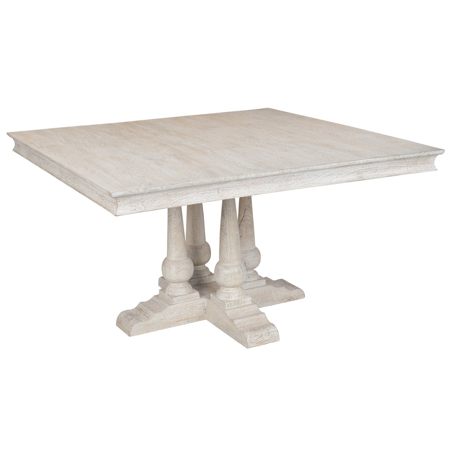 Shop norman solid wood 54 inches square dining table by kosas home norman solid wood 54 inches square dining table by kosas home antique white watchthetrailerfo