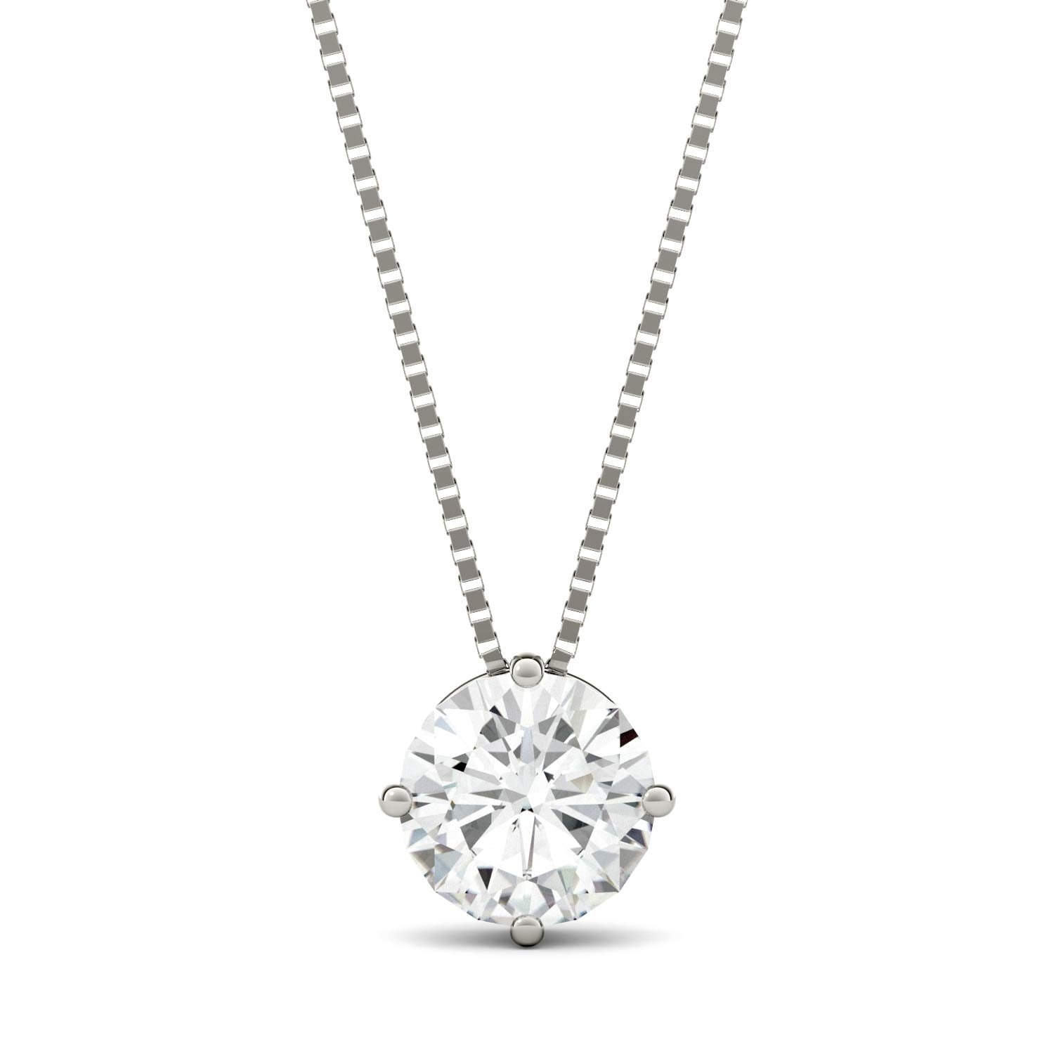 classic round stunning this pendant in silver charles tgw pin necklace a colvard cut sterling displays circle moissanite