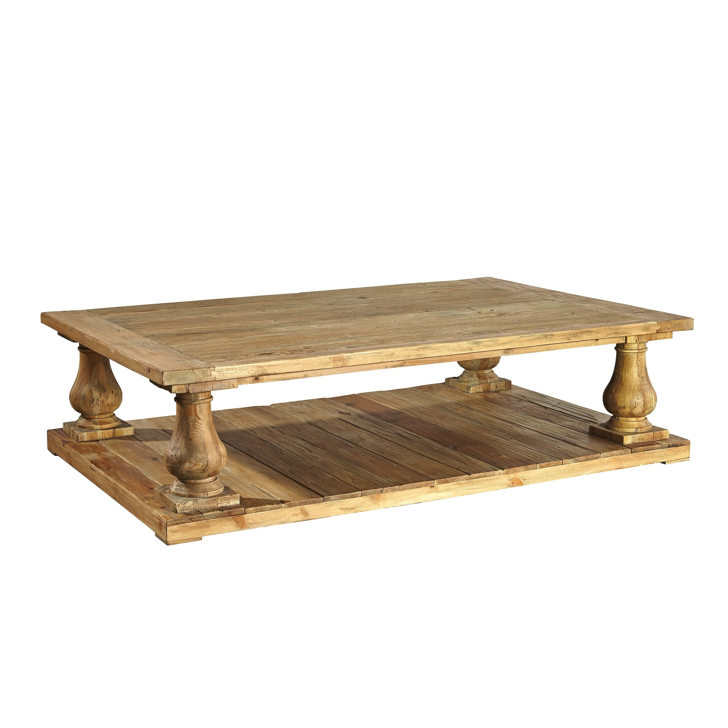 Shop Black Friday Deals On Balustrade Large Pine Coffee Table Overstock 17524198