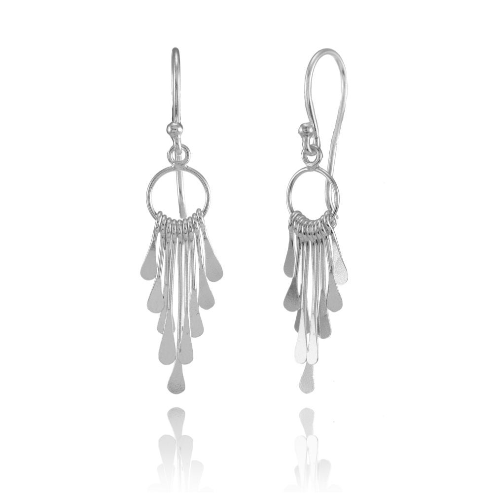 6086886f0 Mondevio Sterling Silver Graduated Paddle-Stick Lightweight Dangle Drop  Earrings