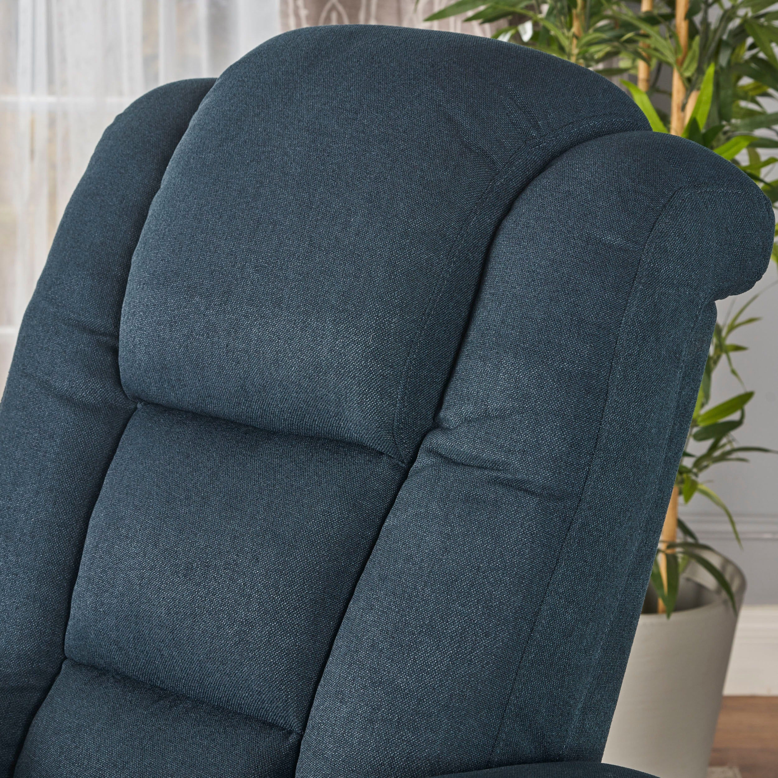 Shop Emersyn Fabric Power Recliner With Arm Storage U0026 USB Cord By  Christopher Knight Home   On Sale   Free Shipping Today   Overstock.com    17570814