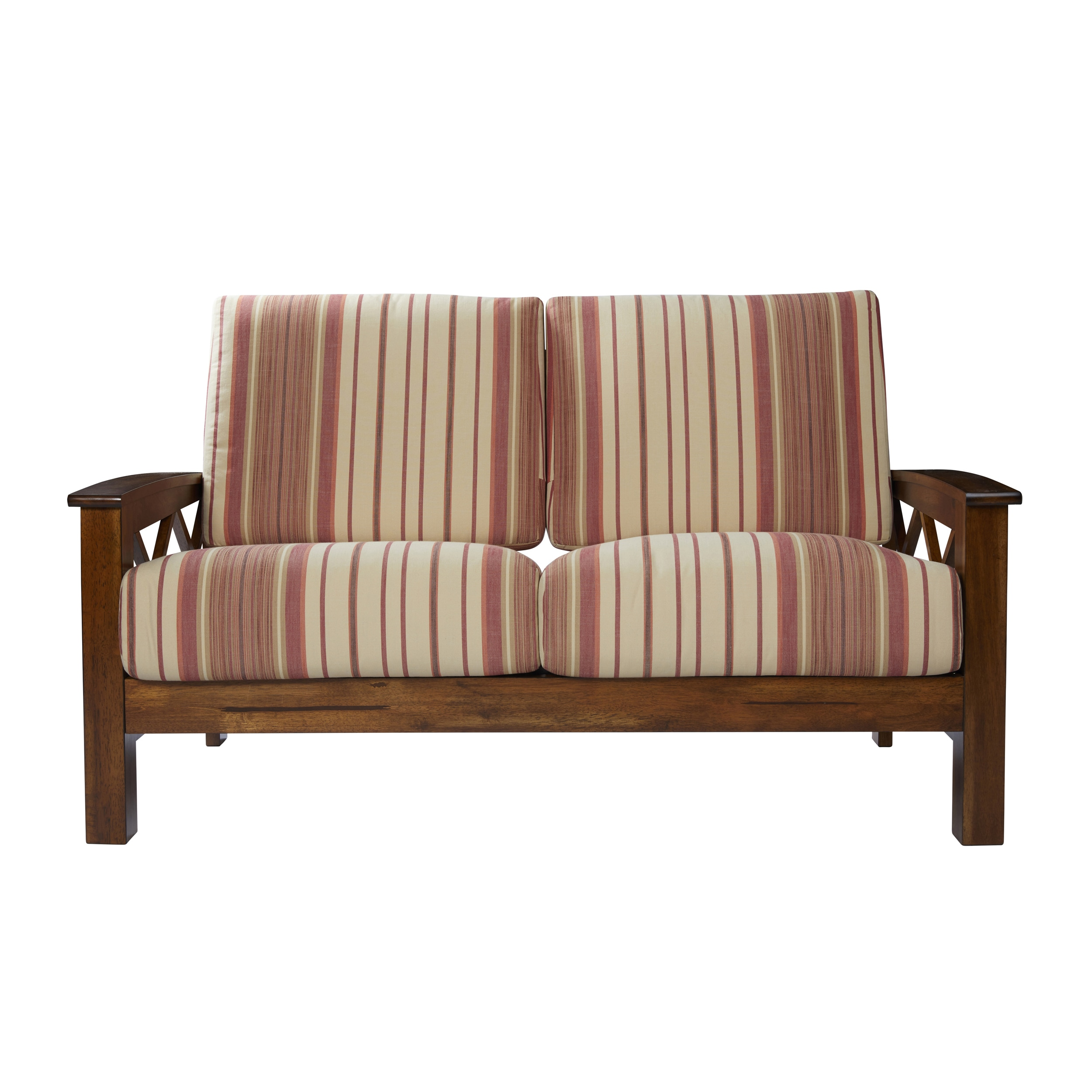 overstock style wood shipping plaid red living free frame product home omaha handy with today garden loveseat exposed mission