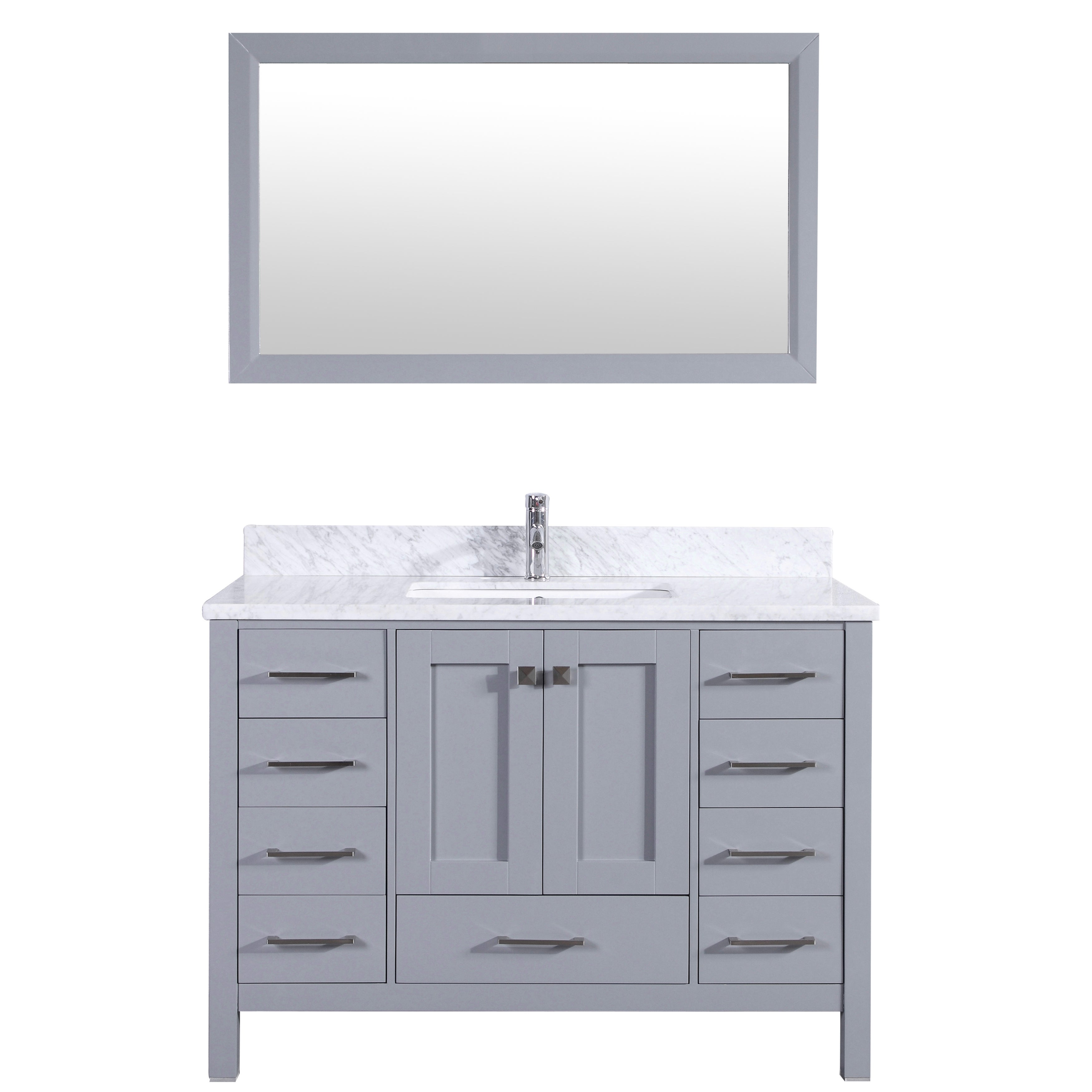 sink wood products inch with white in under carrara marble vanity bathroom mount cabinet carrera countertop solid grey amp round