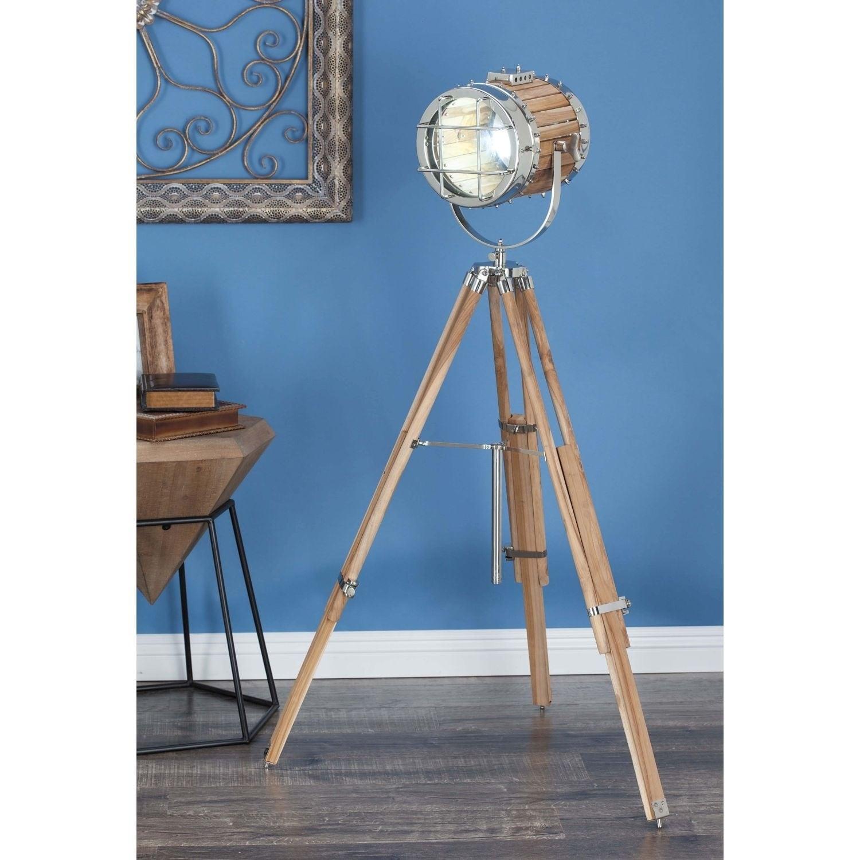 Studio 350 Aluminum Wood Spot Light 52 inches high - Free Shipping ...