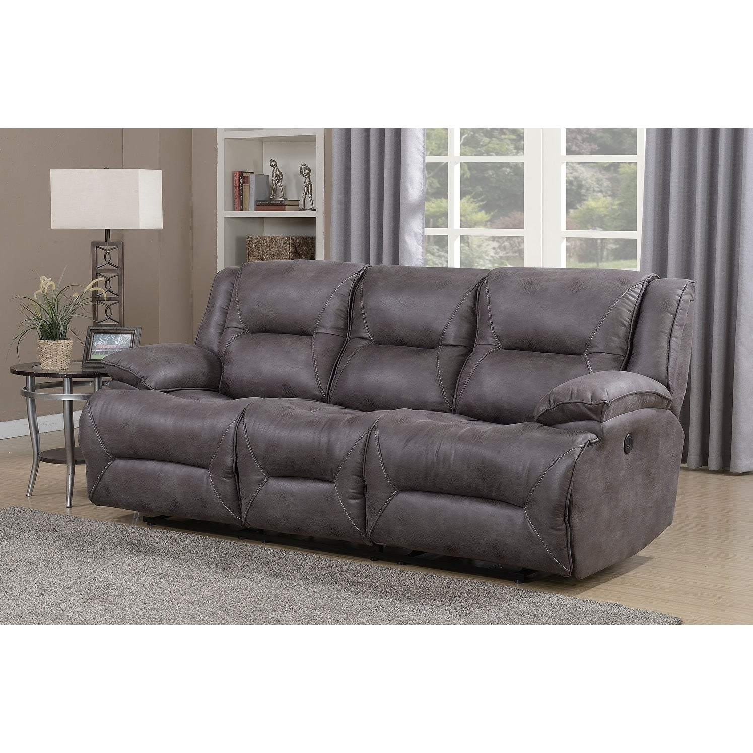 Dylan Dual Reclining Sofa With Memory Foam Seat Toppers And Usb Charging Ports Free Shipping Today 17610820