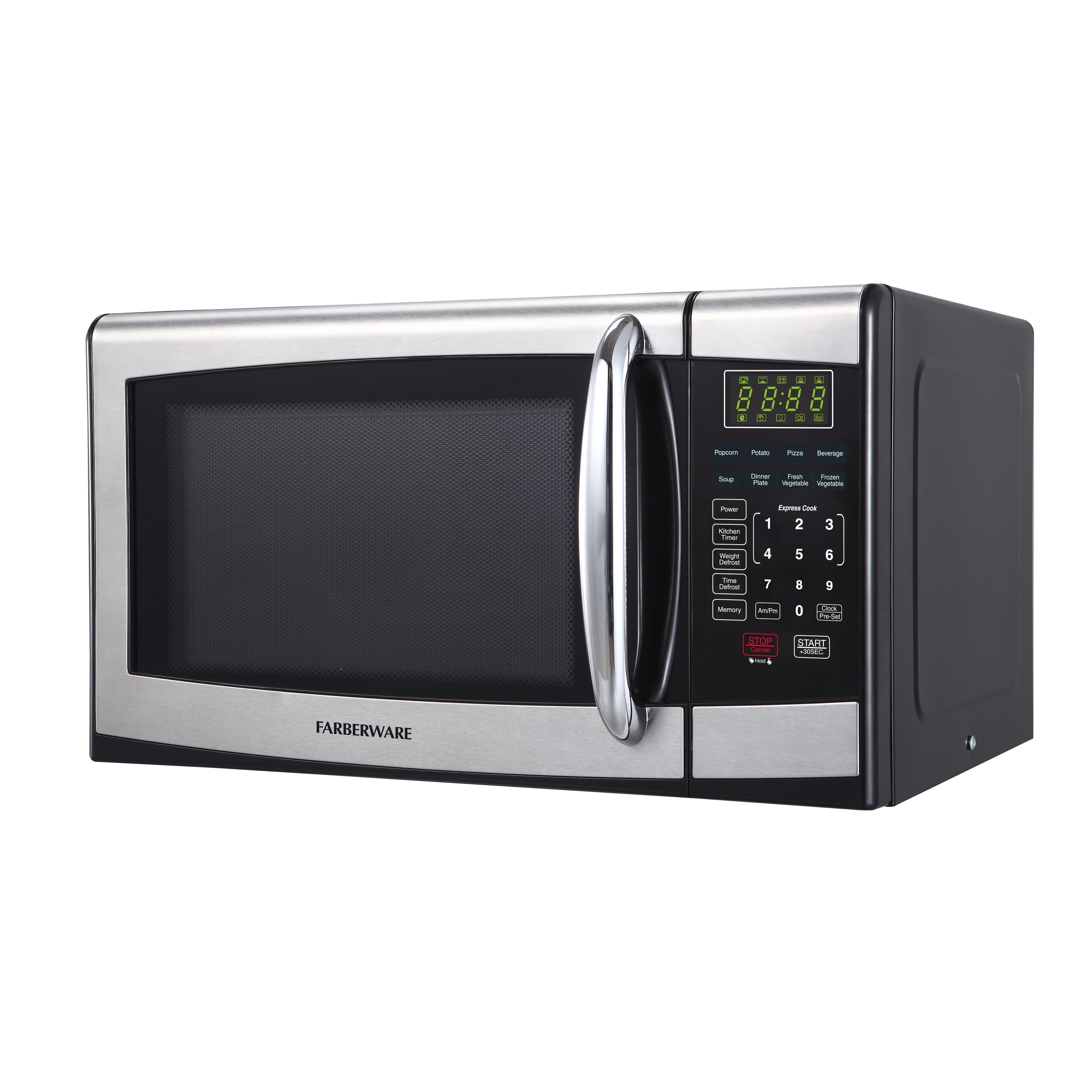 Farberware 0 9 Cubic Foot 900 Watt Microwave Oven Stainless Steel Black Free Shipping Today 23827694