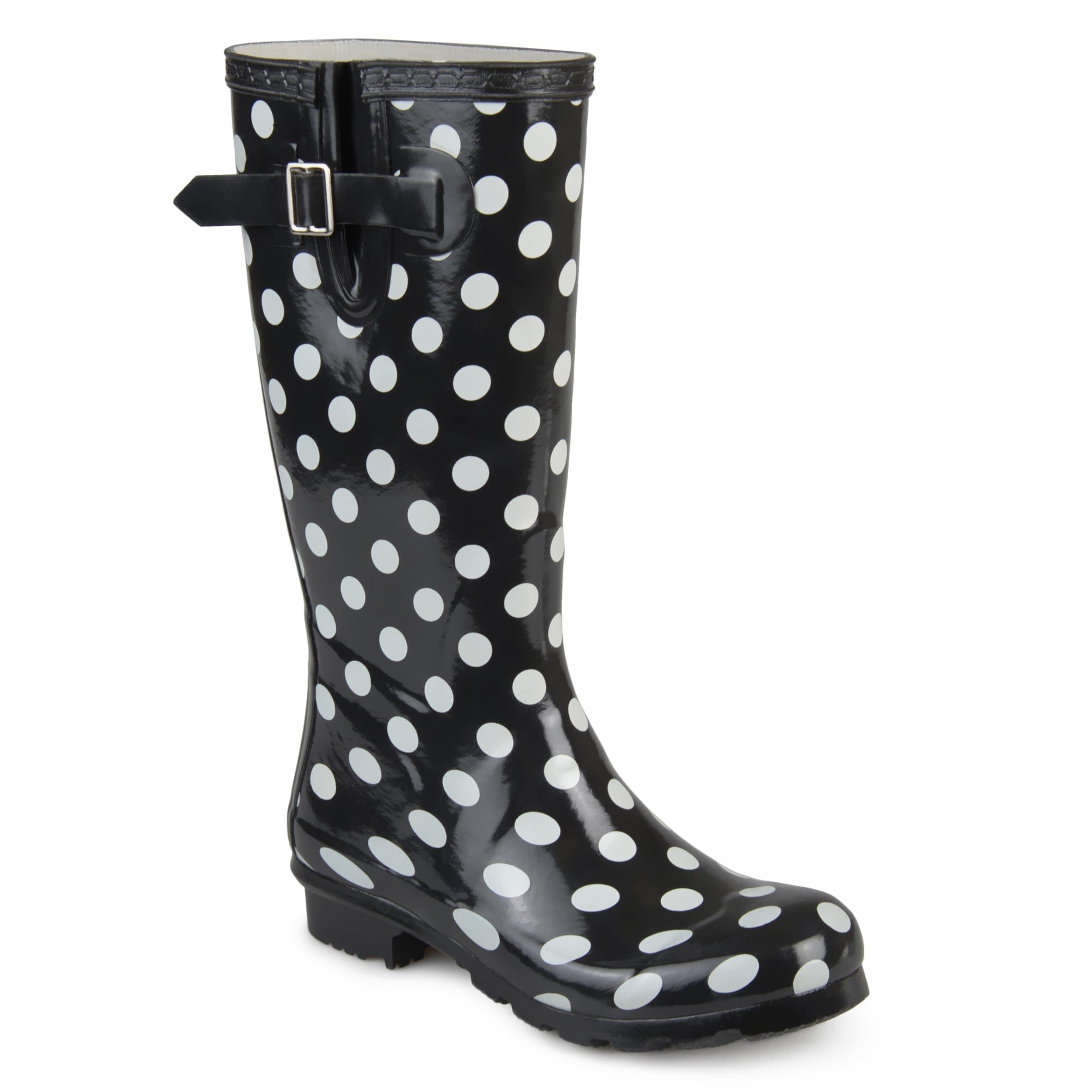 Patterned Rain Boots Interesting Decoration