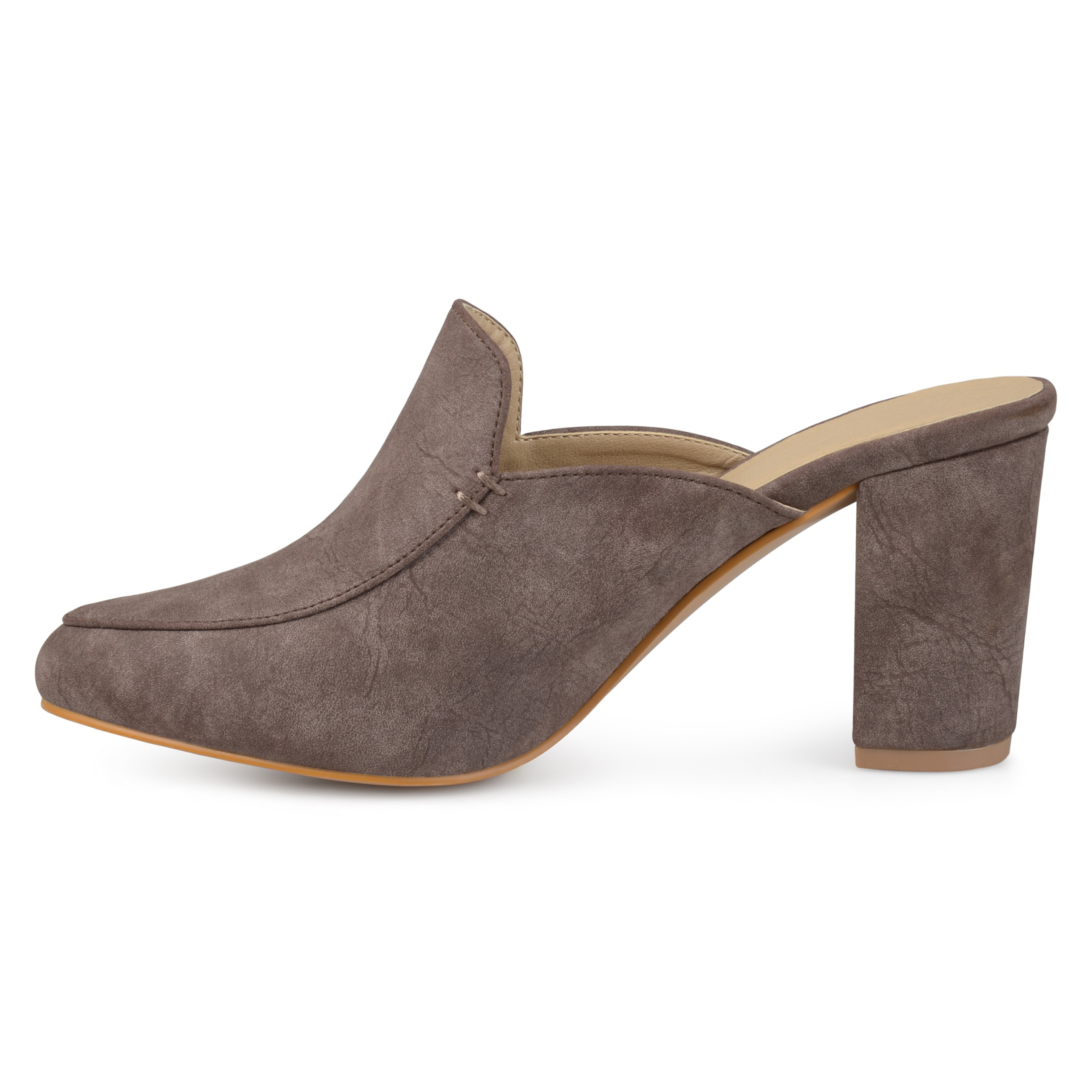 5dc58f56fe5 Shop Journee Collection Women s  Trove  Block Heel Loafer Mules - On Sale -  Free Shipping On Orders Over  45 - Overstock - 17611345