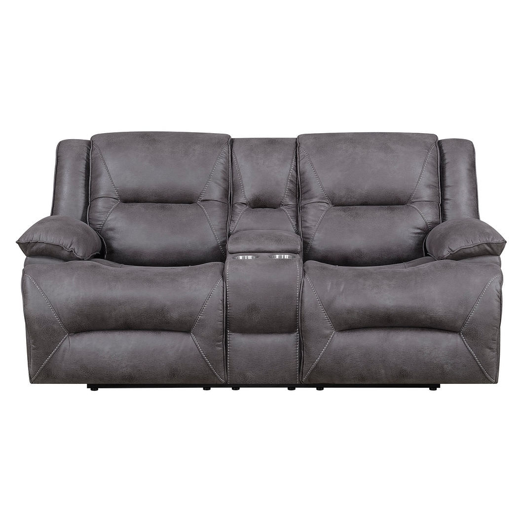 Shop Dylan Dual Lay Flat Reclining Storage Console Loveseat With