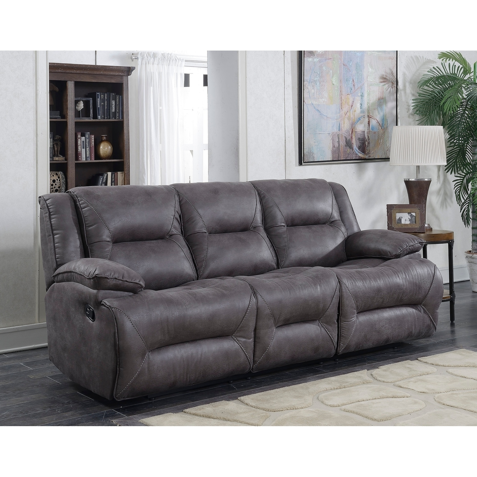 Shop Dylan Dual Lay Flat Reclining Sofa with Memory Foam Seat ...