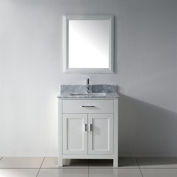 Shop Belvedere Traditional Freestanding White 24 Inch Bathroom